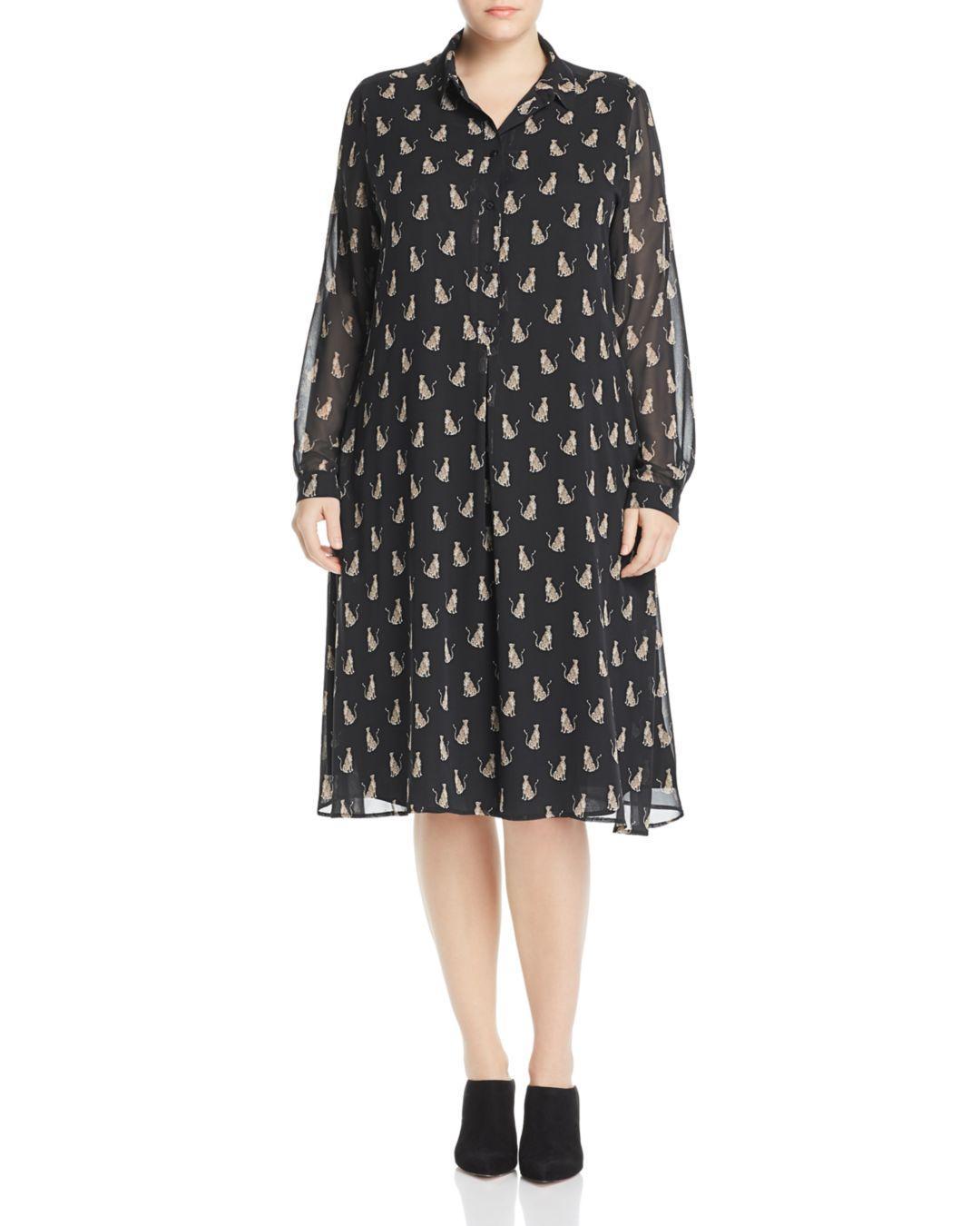 03940c3ae4 Lyst - Marina Rinaldi Danae Leopard-printed Dress in Black