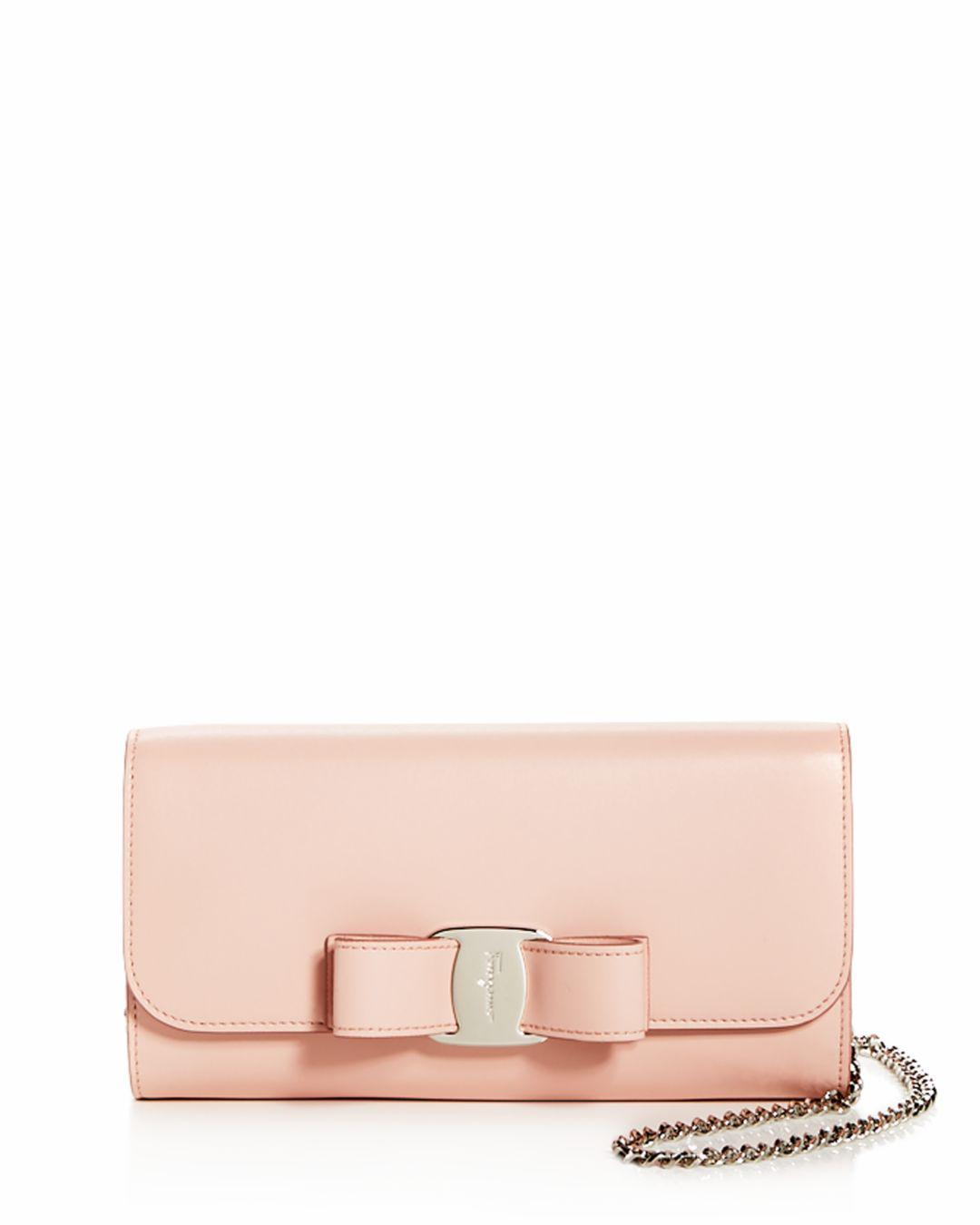 376c96db7472 Lyst - Ferragamo Oversized Vara Bow Mini Bag in Pink