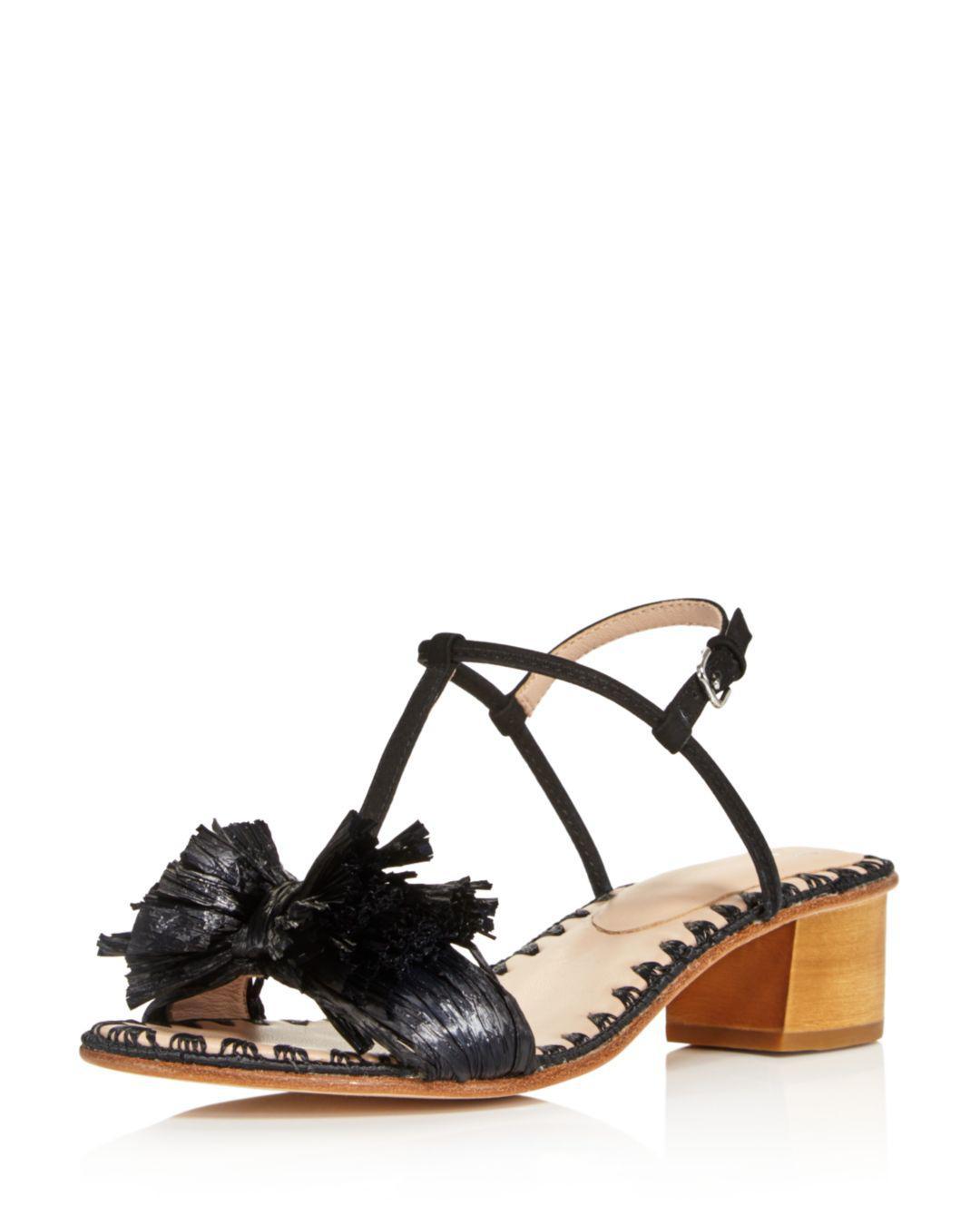 806ba921138 Lyst - Pour La Victoire Women s Julie Nubuck Leather   Raffia T ...