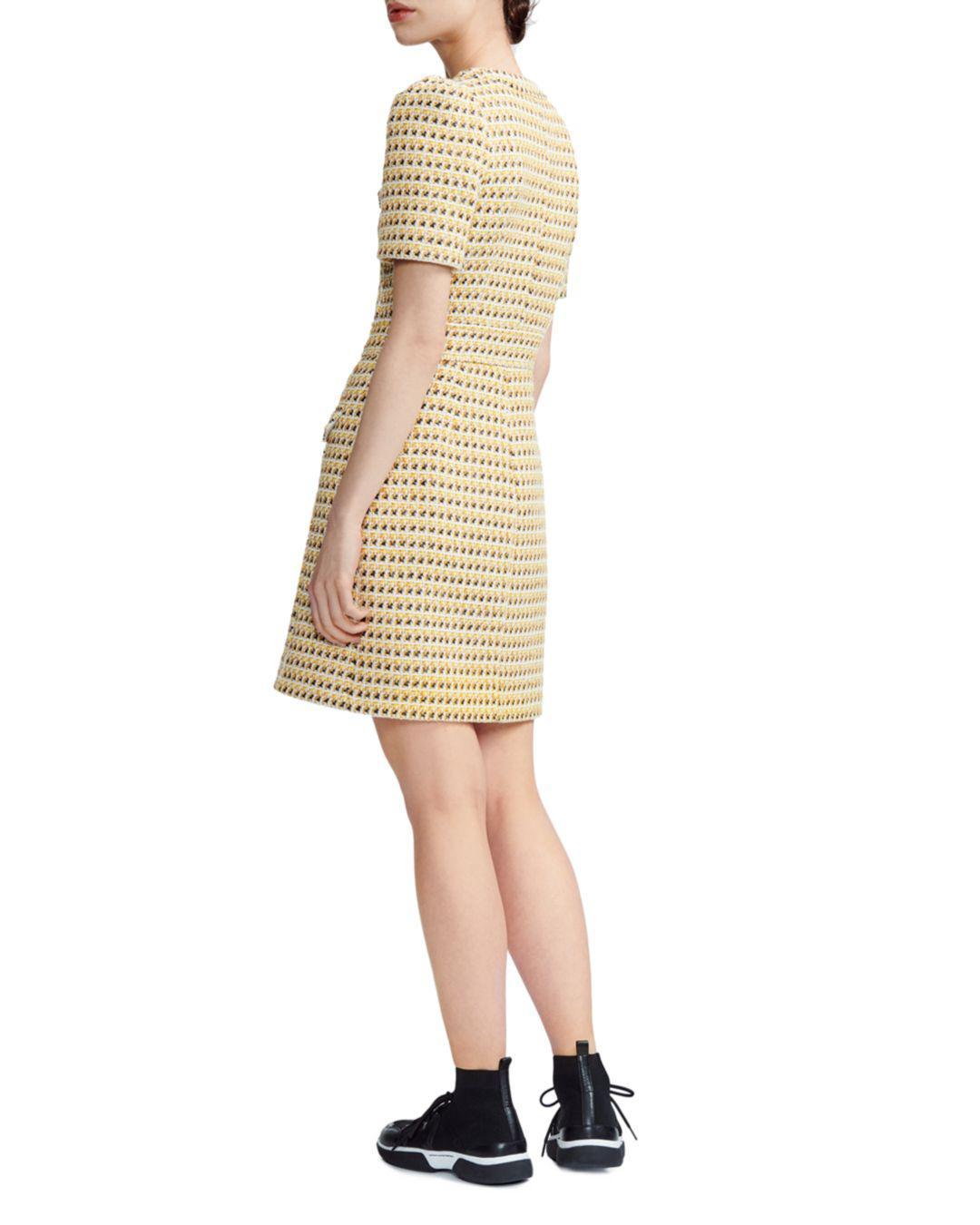 bce076886f Lyst - Maje Rill Tweed Shirt Dress in Yellow