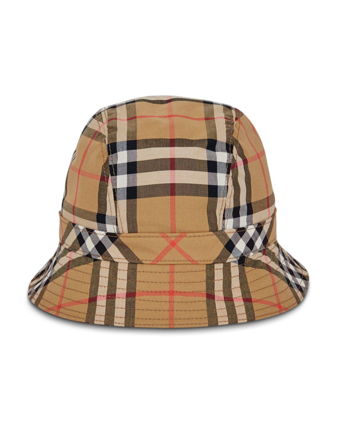 11e647acfd7 Burberry. Women s Rainbow Check Bucket Hat