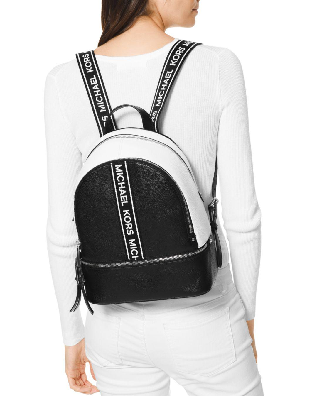 Lyst - MICHAEL Michael Kors Rhea Zip Backpack in Black - Save 39% fc85700489ca2