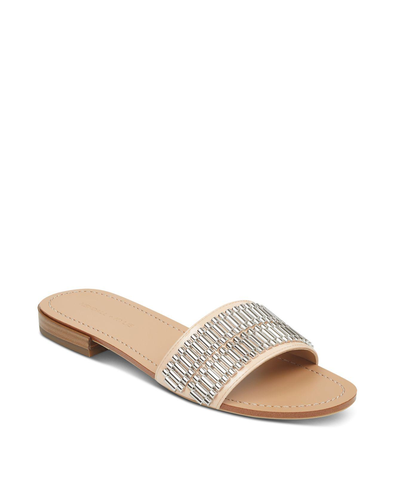 Kendall And Kylie Women's Kennedy Embellished Slide Sandals