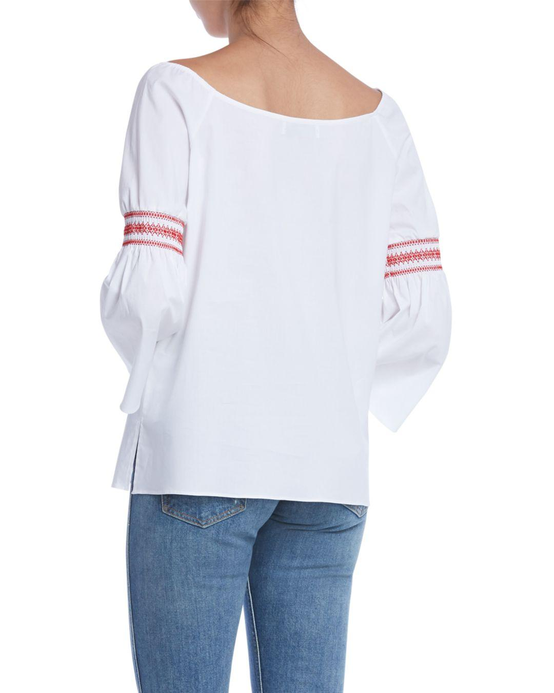 faf8529b5d1fc Lyst - Bailey 44 Enfant Terrible Bell-sleeve Top in White