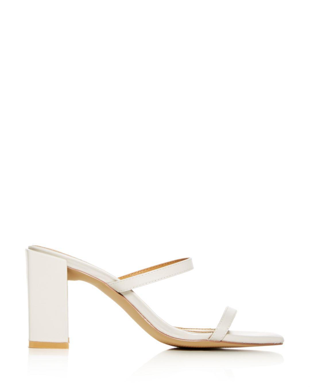 5c0b4722fcc Jaggar Women s Square Block-heel Slide Sandals in Natural - Lyst