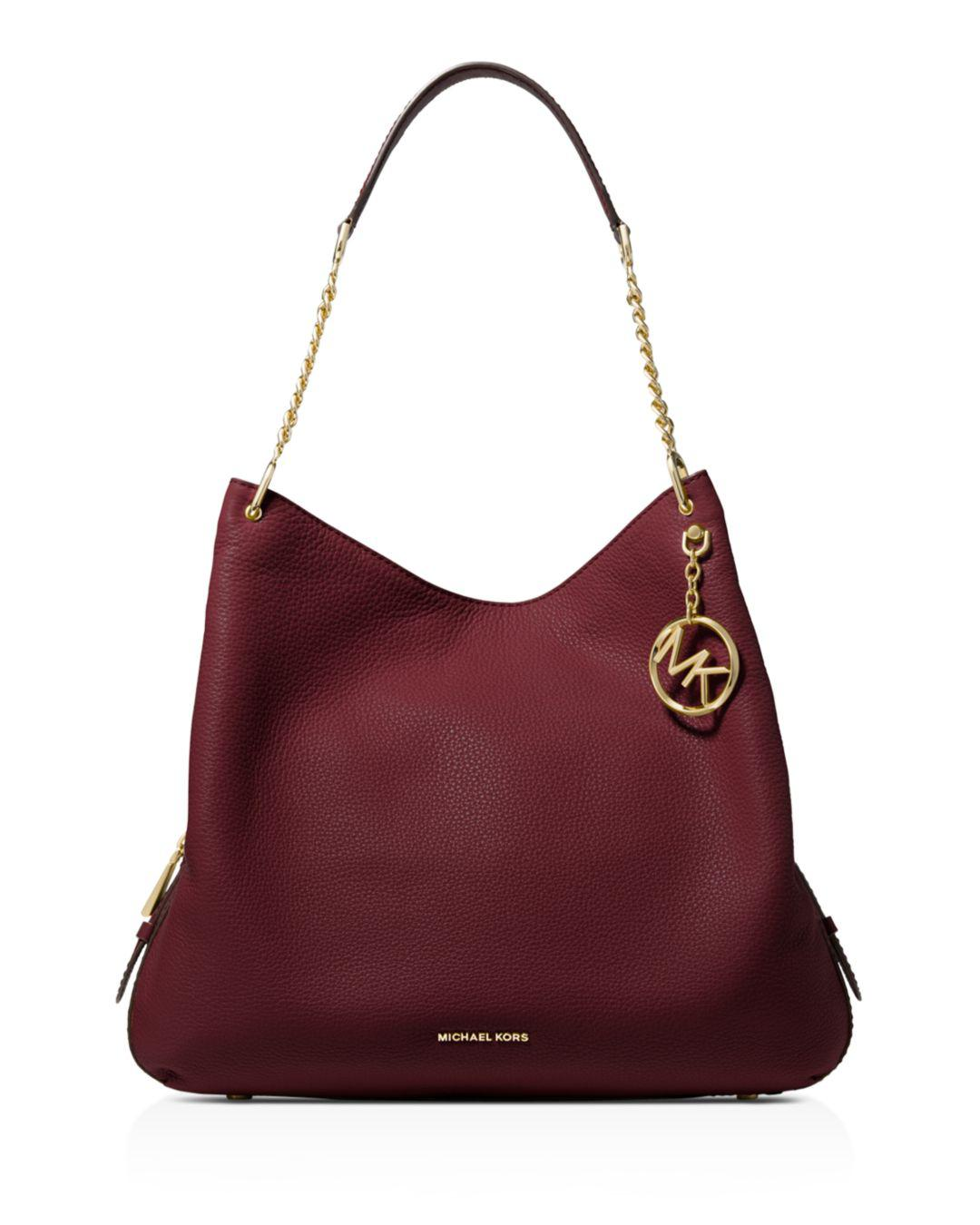 3845961da226 MICHAEL Michael Kors - Red Lillie Large Leather Tote - Lyst. View fullscreen