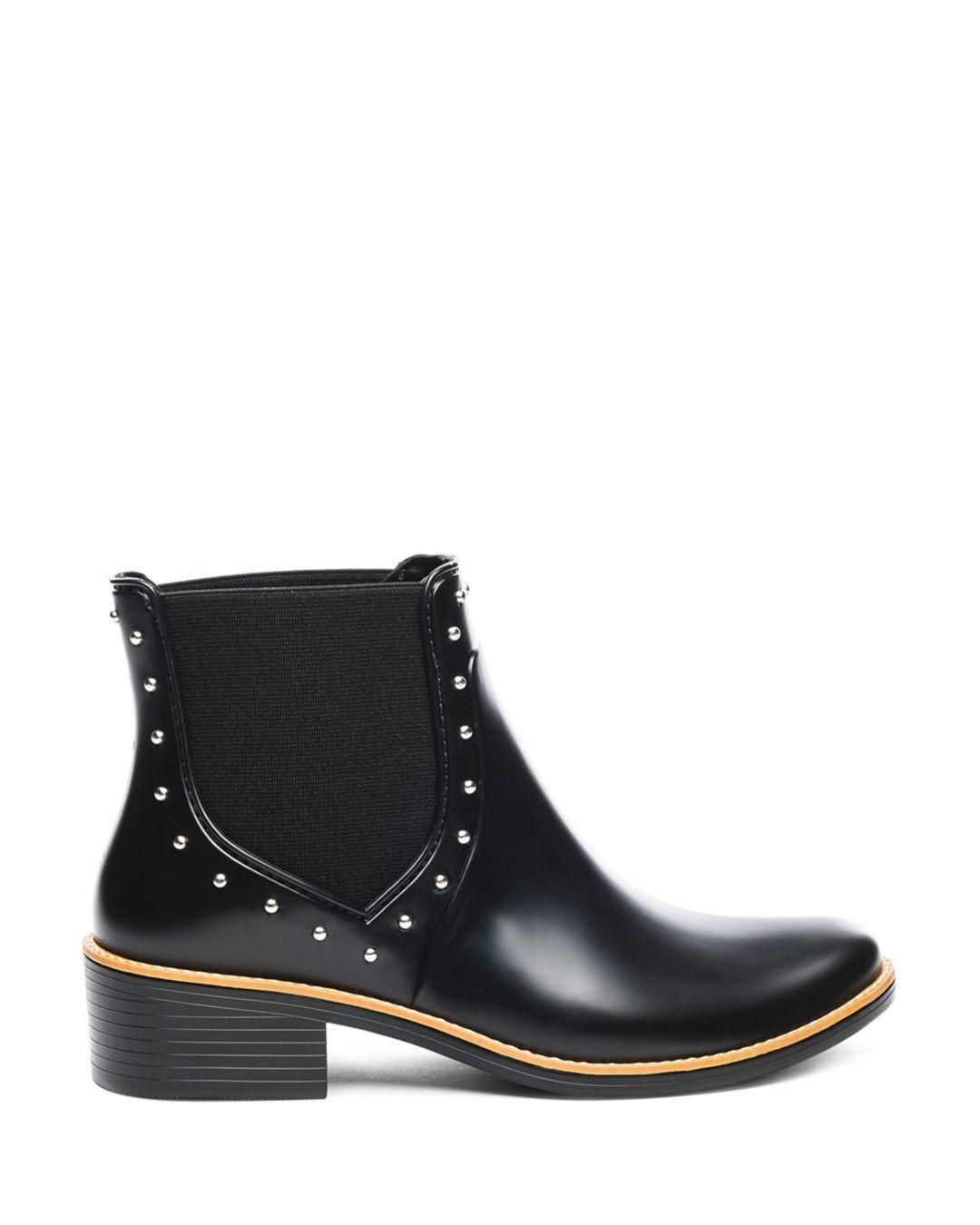 67652f928bb7b6 Lyst - Bernardo Peyton Studded Rubber Rain Ankle Boots in Black