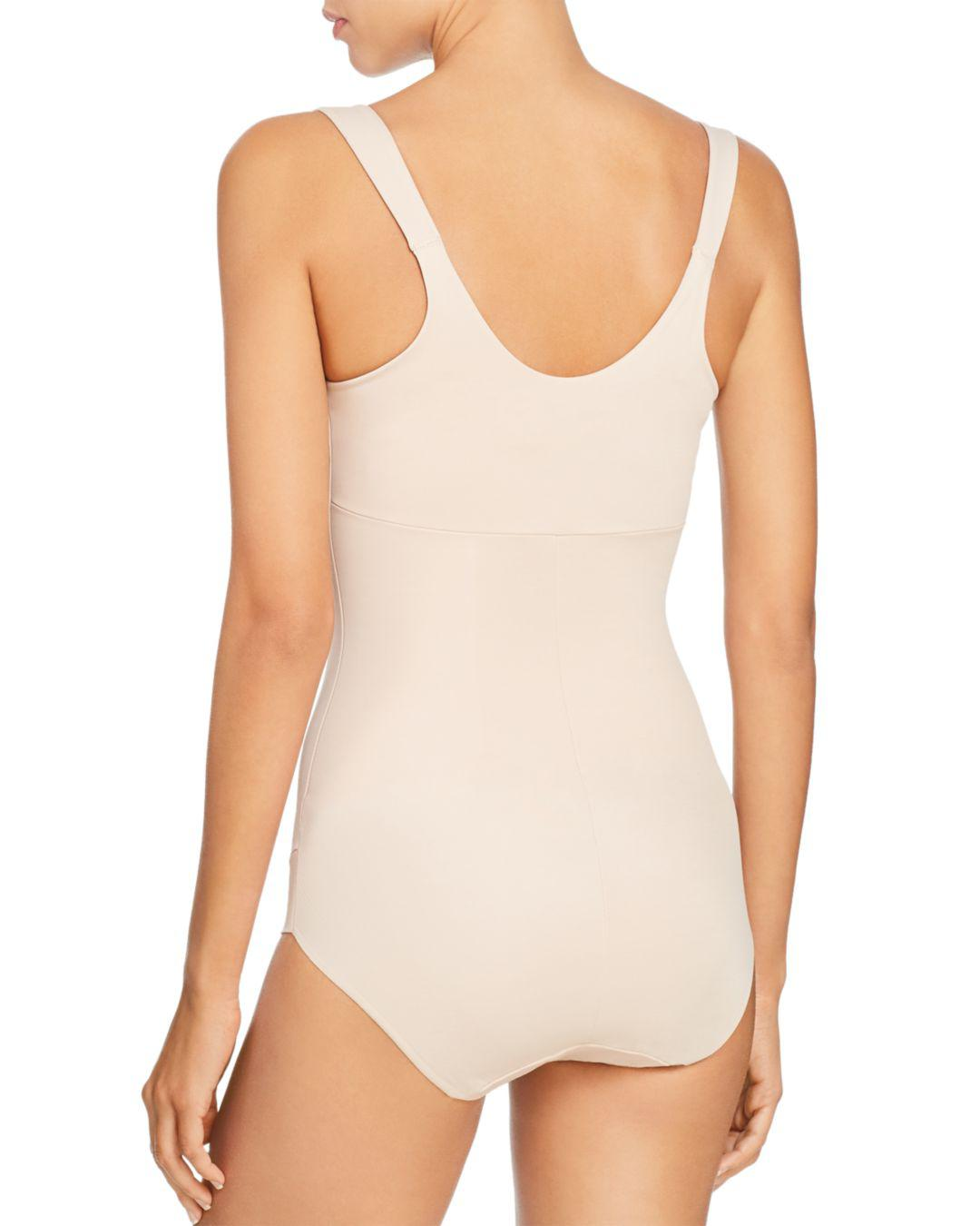 d3a86a748cb54 Lyst - Tc Fine Intimates Bodybriefer Torsette Shaping Bodysuit in Natural