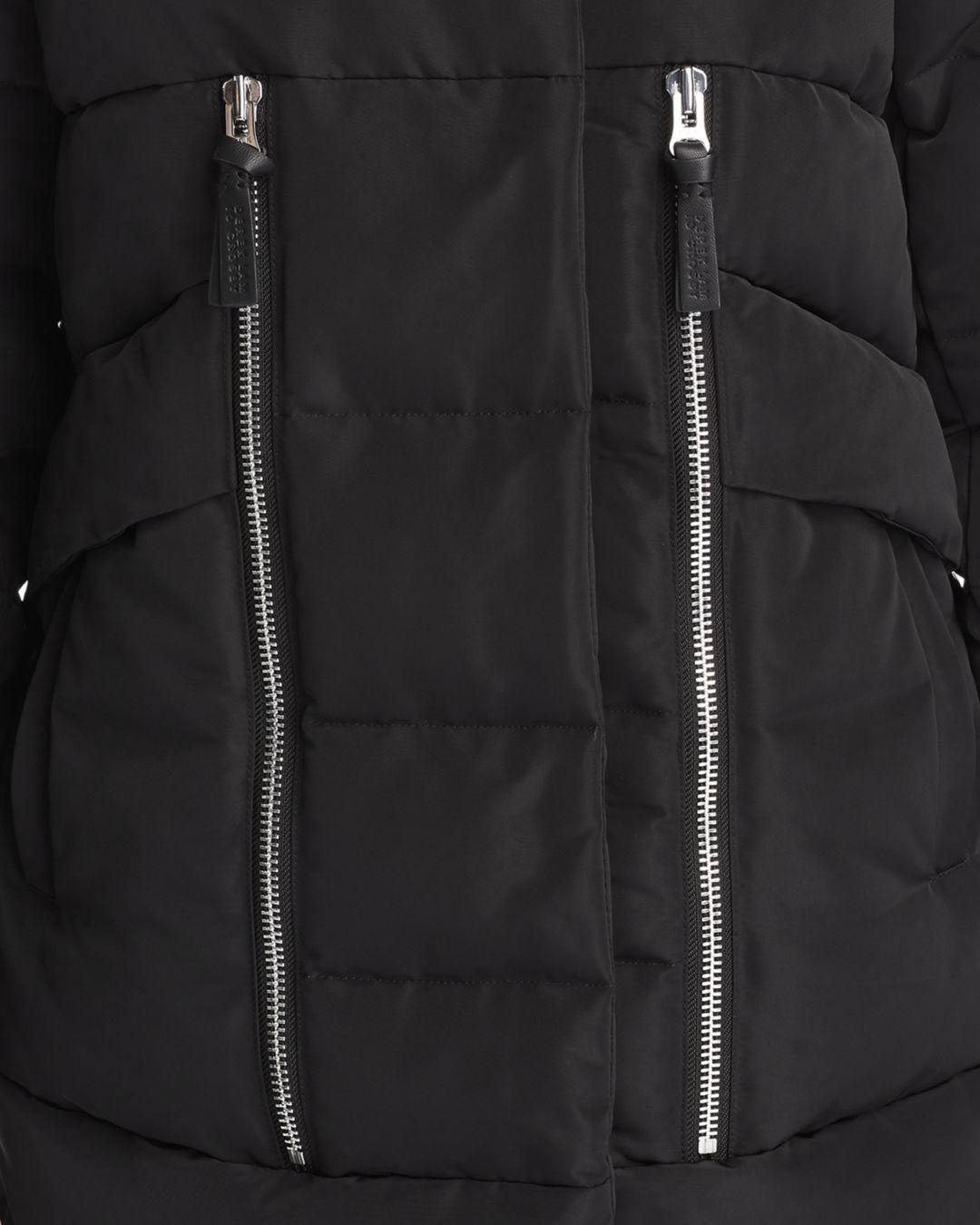 841d07bb7f4a 10 Crosby Derek Lam - Black Hooded Fox Fur Trim Mixed Media Down Coat -  Lyst. View fullscreen