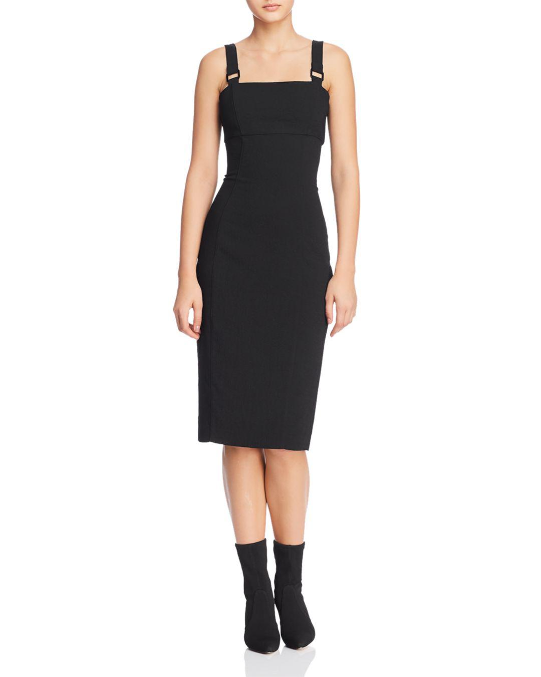8e2872799e48 Lyst - Bardot Hardware-strap Sheath Dress in Black