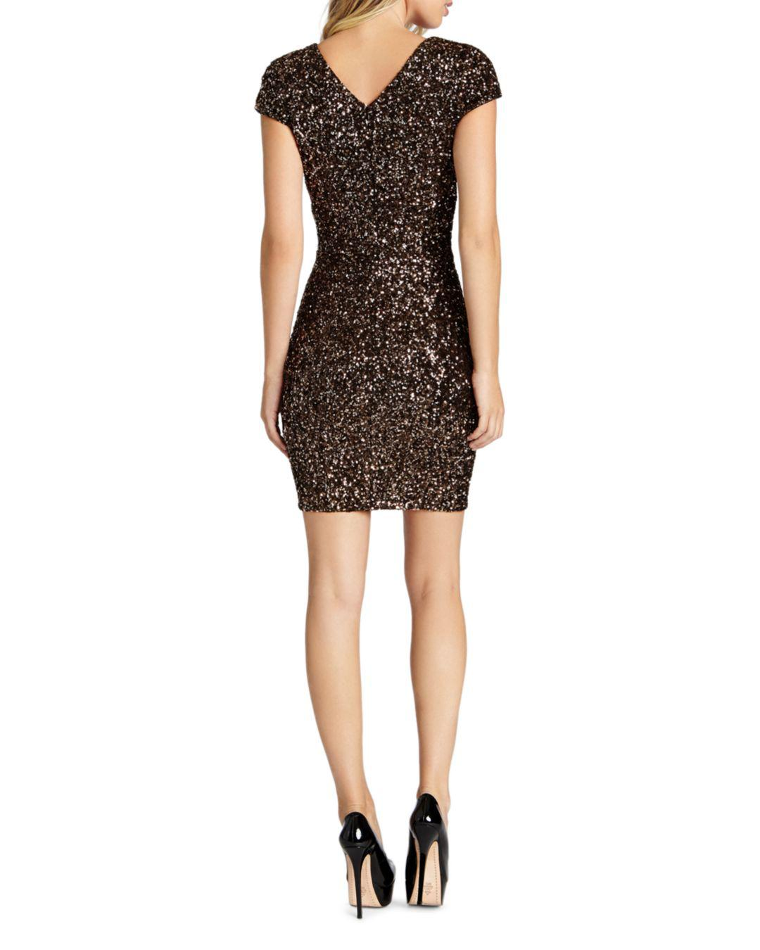 0afee922e504f Lyst - Dress The Population Zoe Sequined Mini Dress