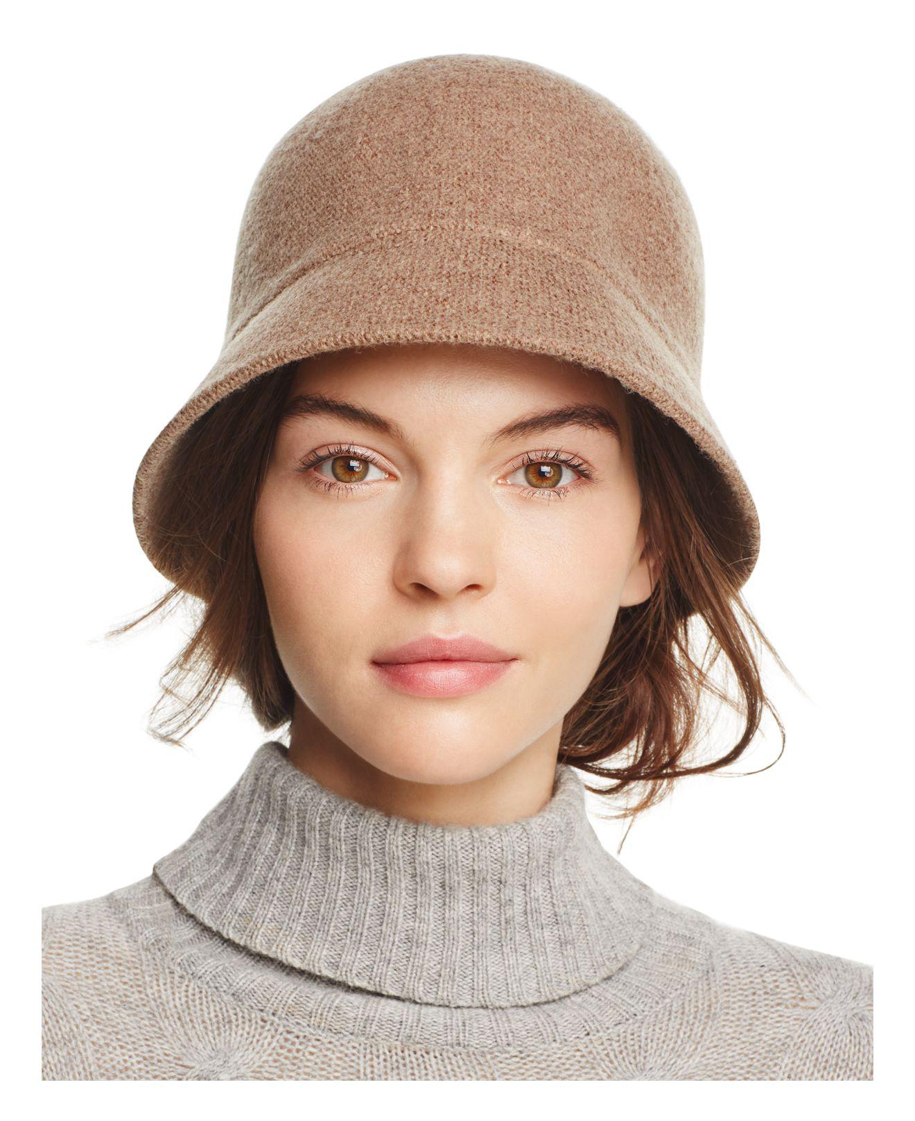 2a404a54c August Hat Company Melton Cloche Hat in Brown - Lyst