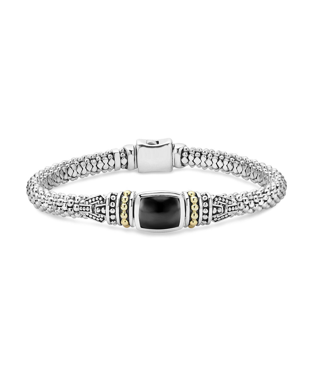 Lagos Caviar Color Large Station Bracelet with Onyx bH5RRenT