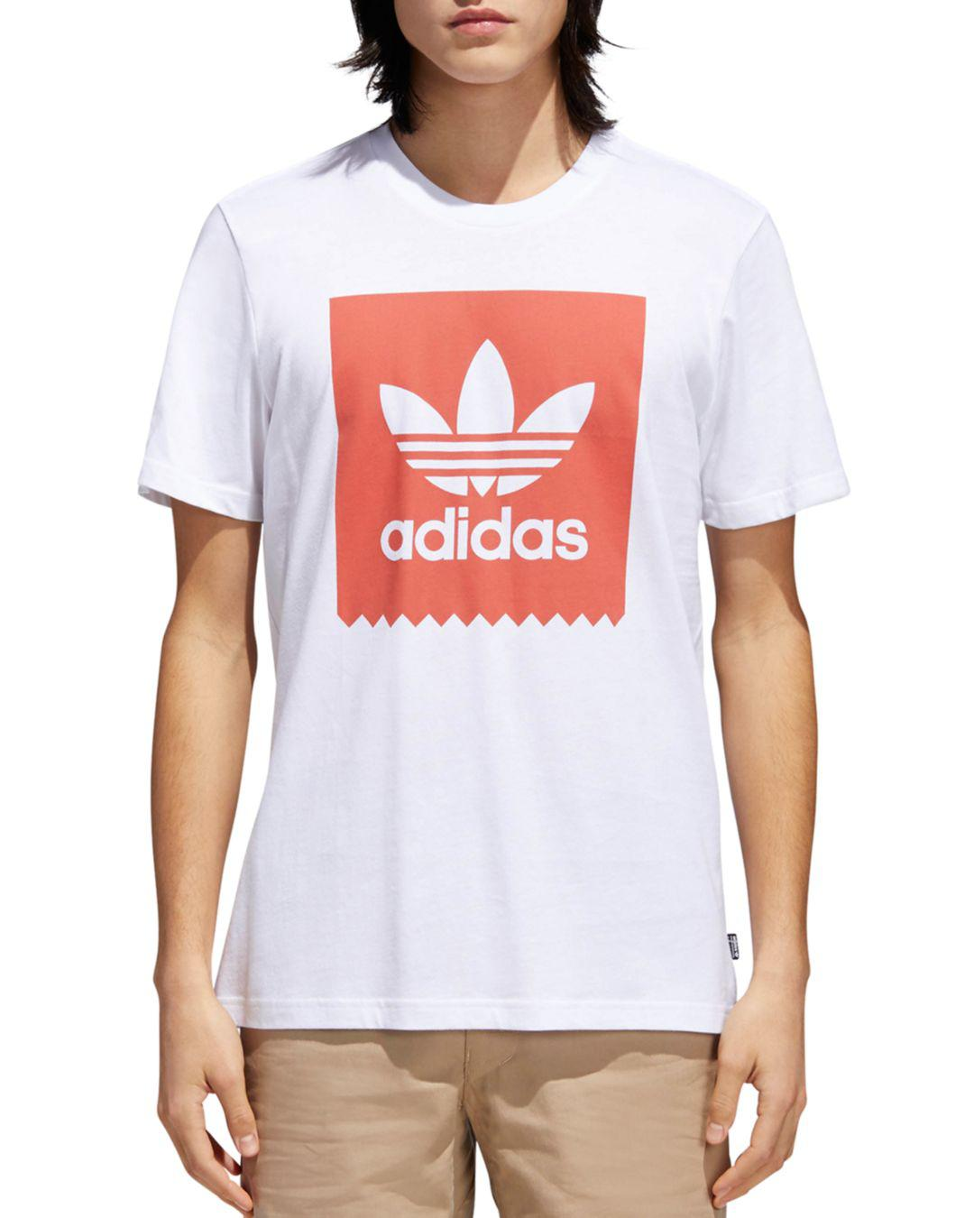 Lyst Adidas Originals Logo Tag Crewneck Tee In White