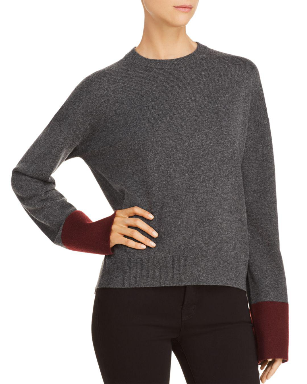 1dedcaec80b Theory Color-block Wool   Cashmere Sweater in Gray - Lyst