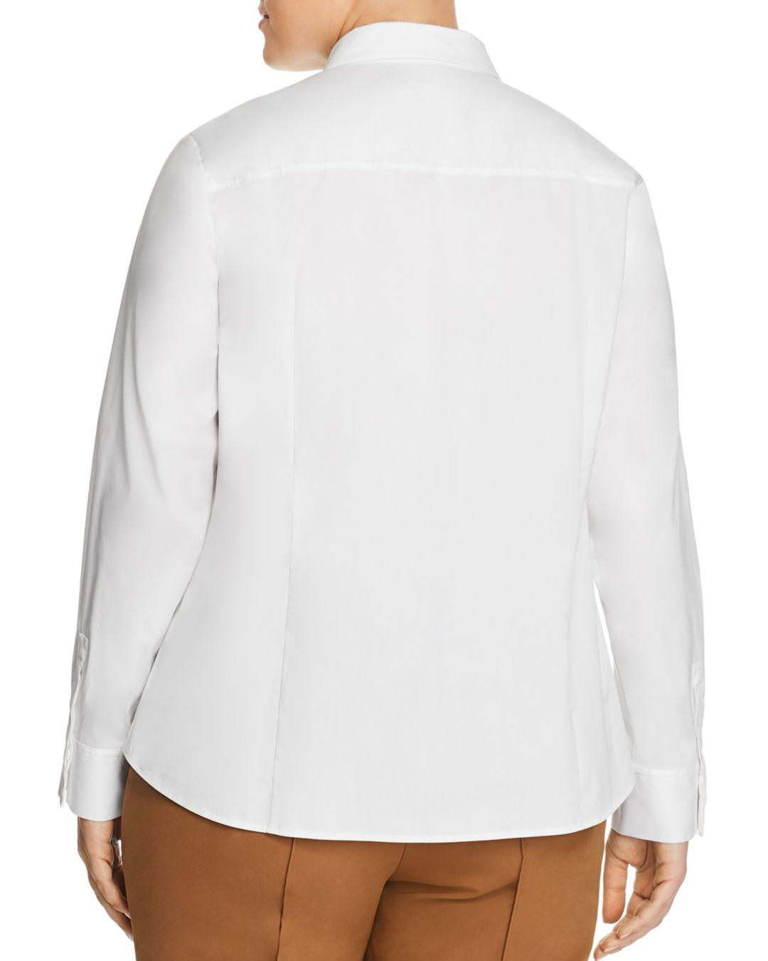 13b79134a7b2d0 Lyst - Lafayette 148 New York Phaedra Button-down Blouse in White