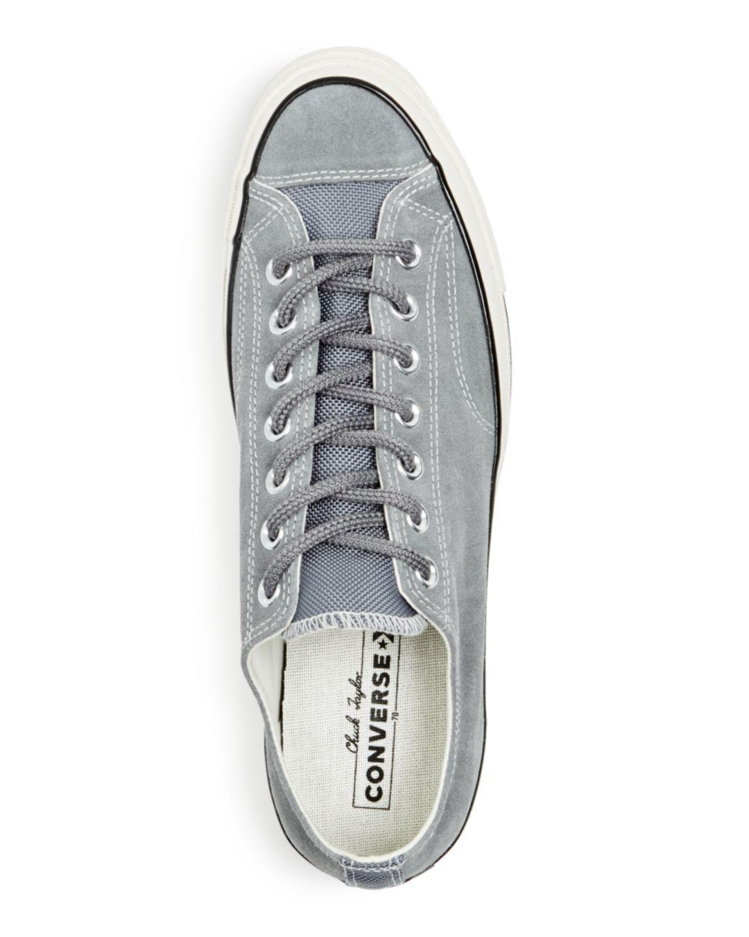 e5711d1248fb Converse Men s Chuck Taylor All Star 70 Suede Lace-up Sneakers in Gray for  Men - Lyst