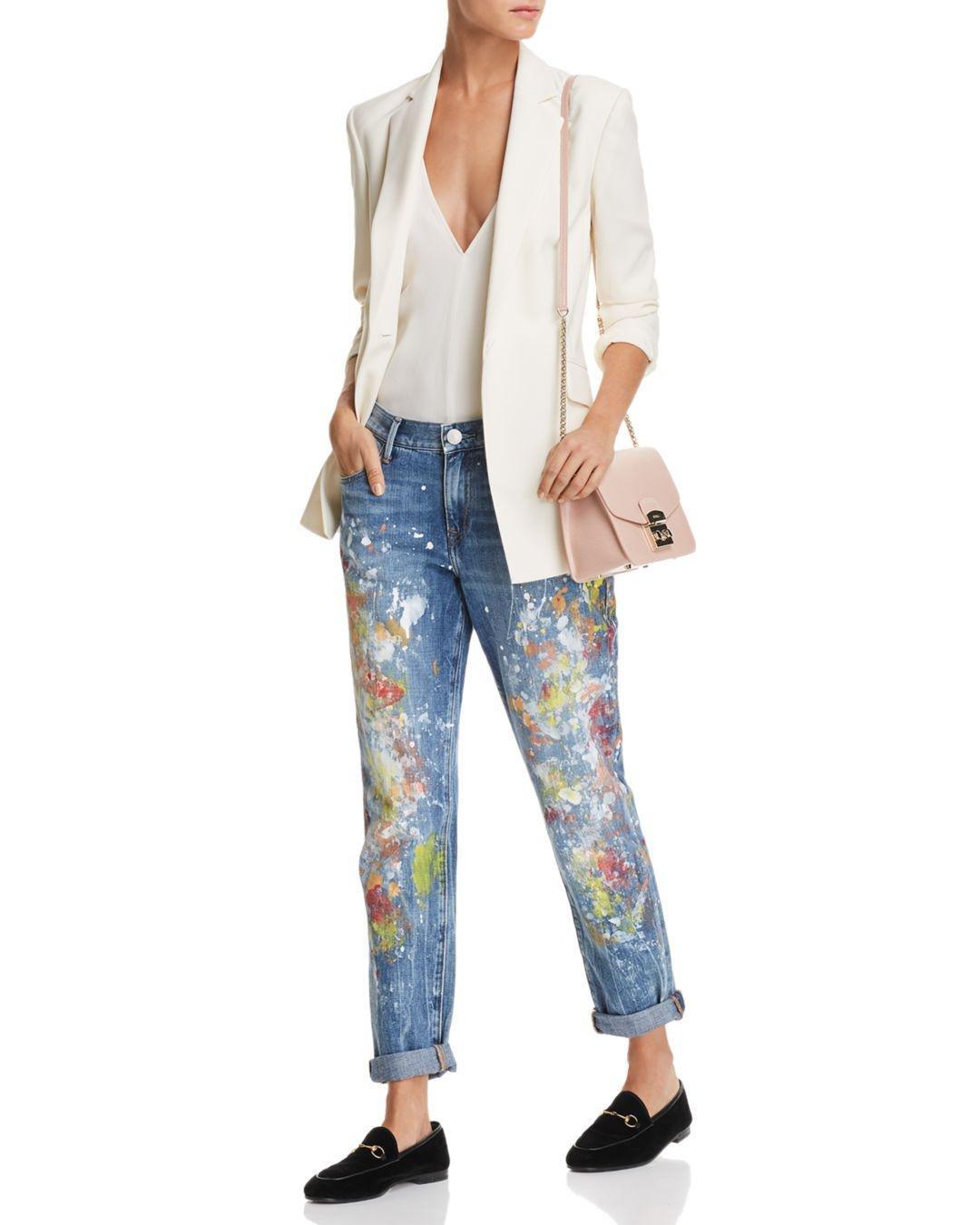 6e2e9031a True Religion Cameron Boyfriend Jeans In Pop Art Paint in Blue - Save 80% -  Lyst