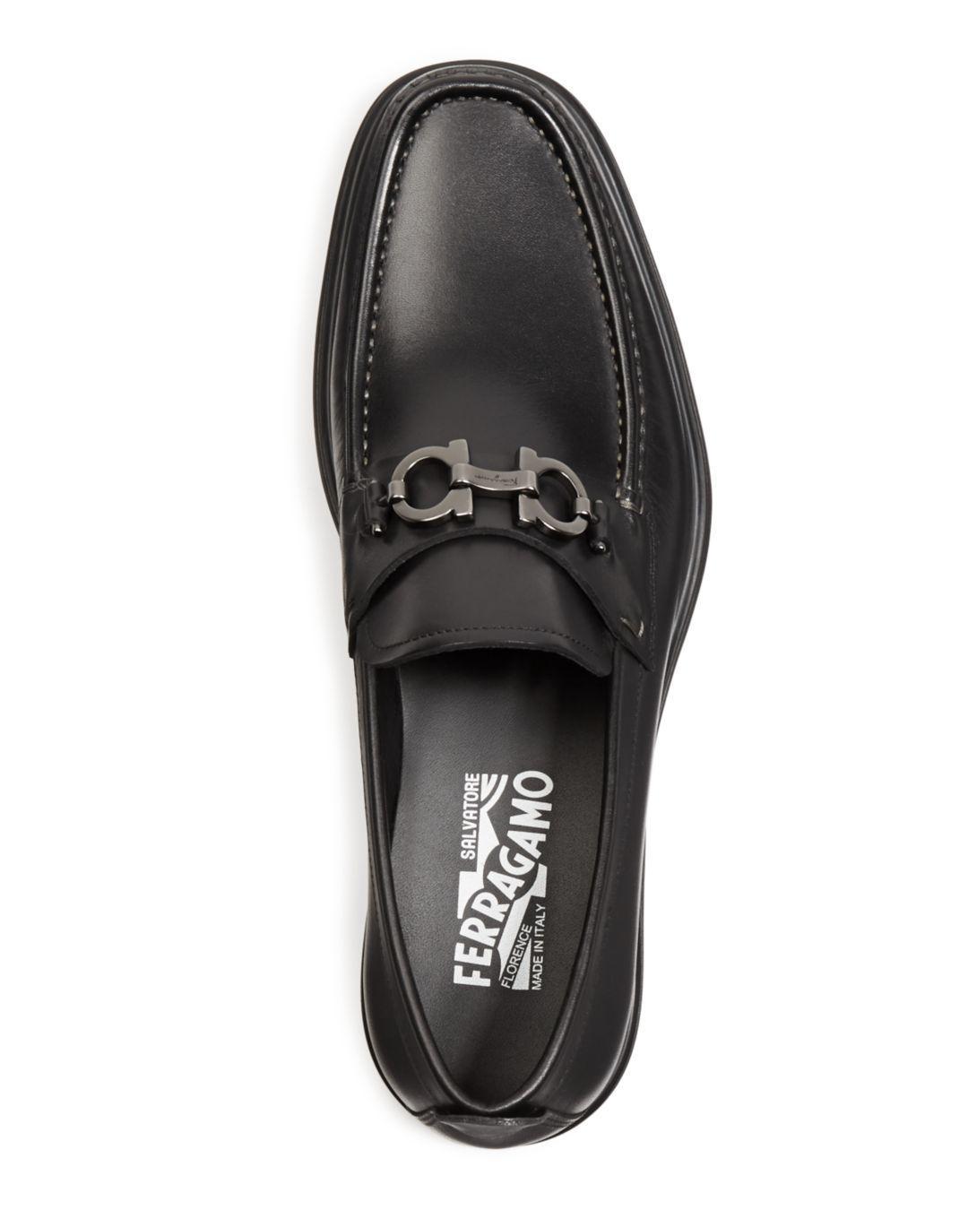2ed00b7800f Lyst - Ferragamo David Leather Loafers in Black for Men