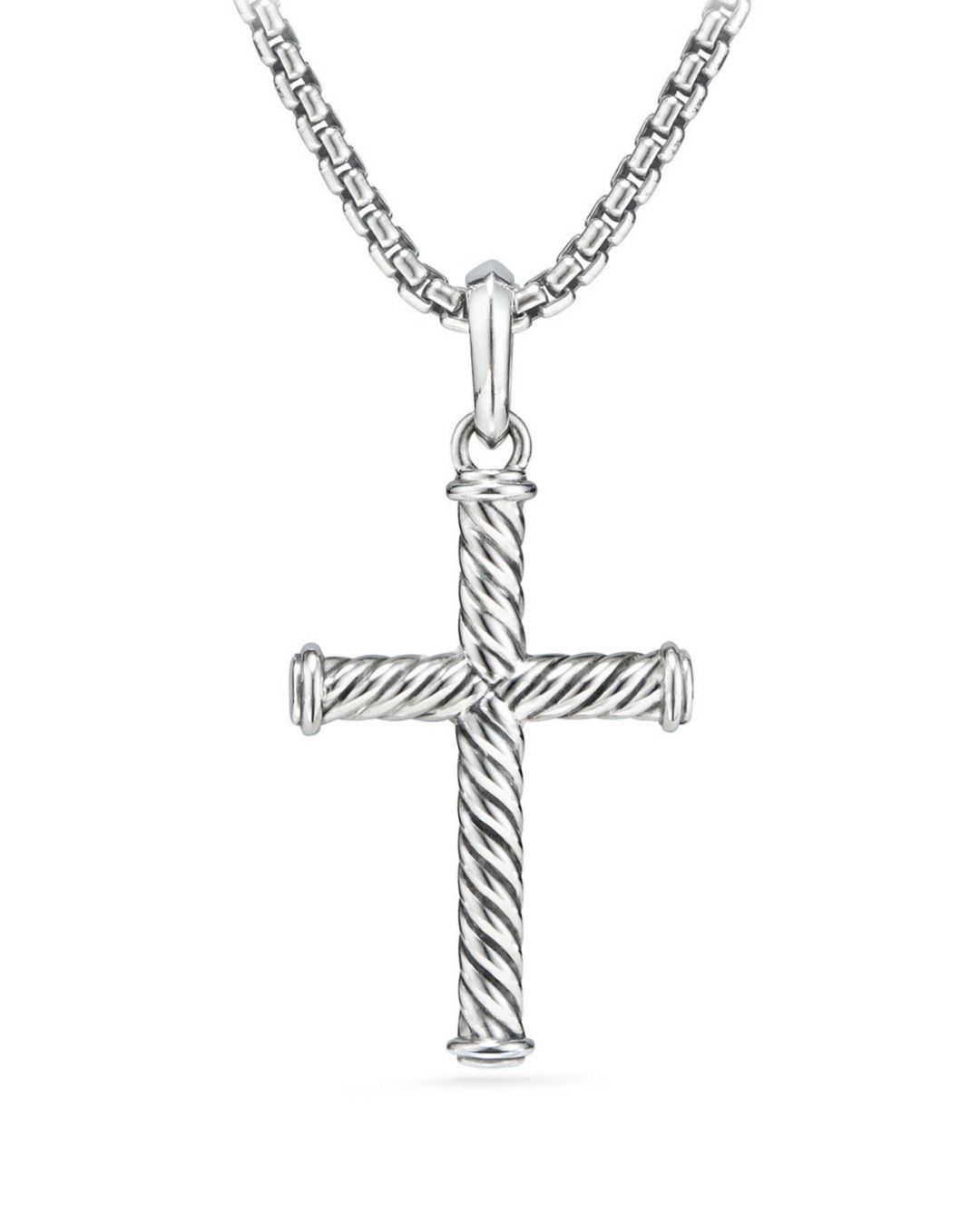 ef92455edd30 Lyst - David Yurman Cable Cross in Metallic for Men
