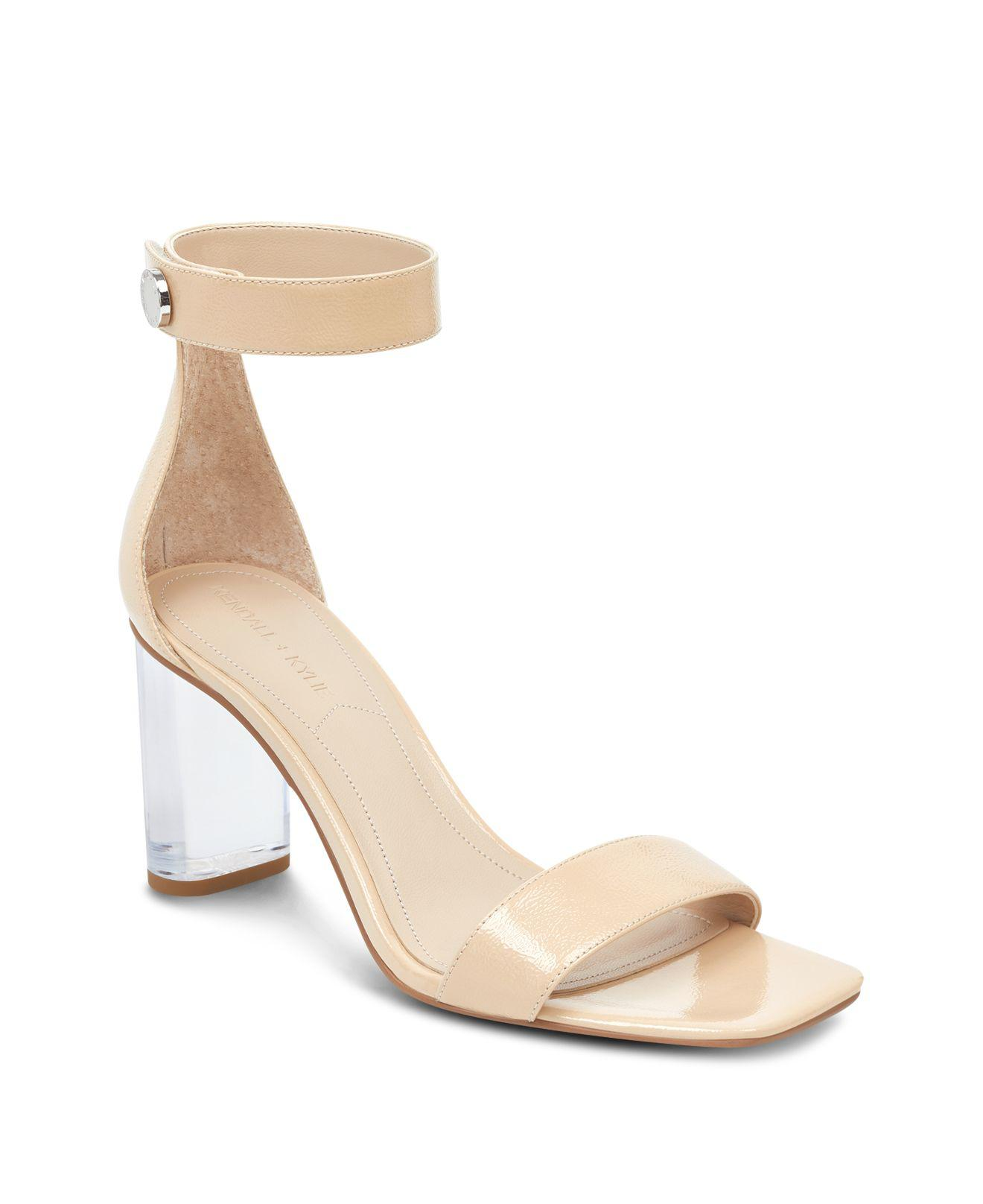 Kendall And Kylie Women's Lexx Patent Leather & Lucite High-Heel Sandals pGFO3bNEH