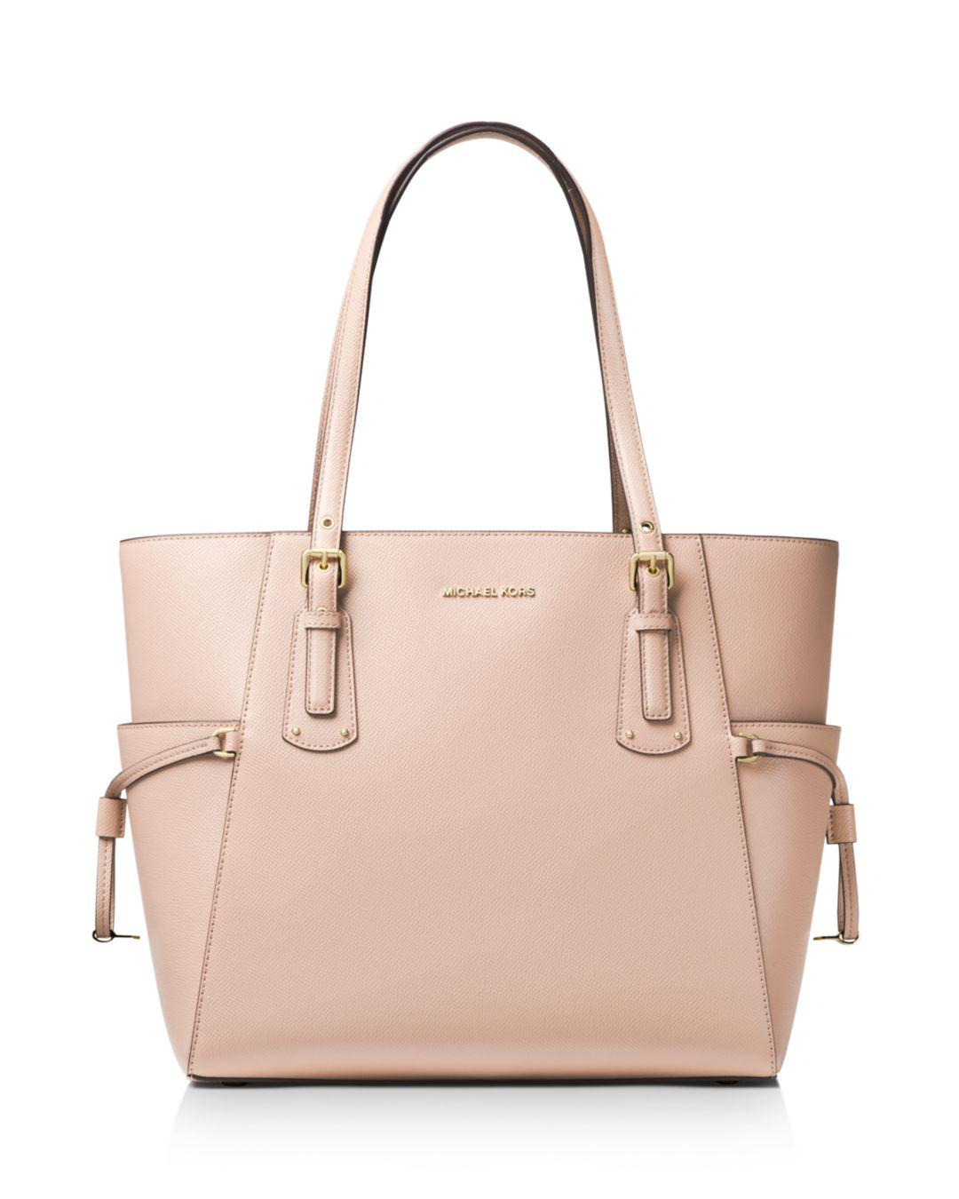 3fd080a482b3 Michael Kors - Pink Voyager East West Crossgrain Leather Tote - Lyst. View  fullscreen