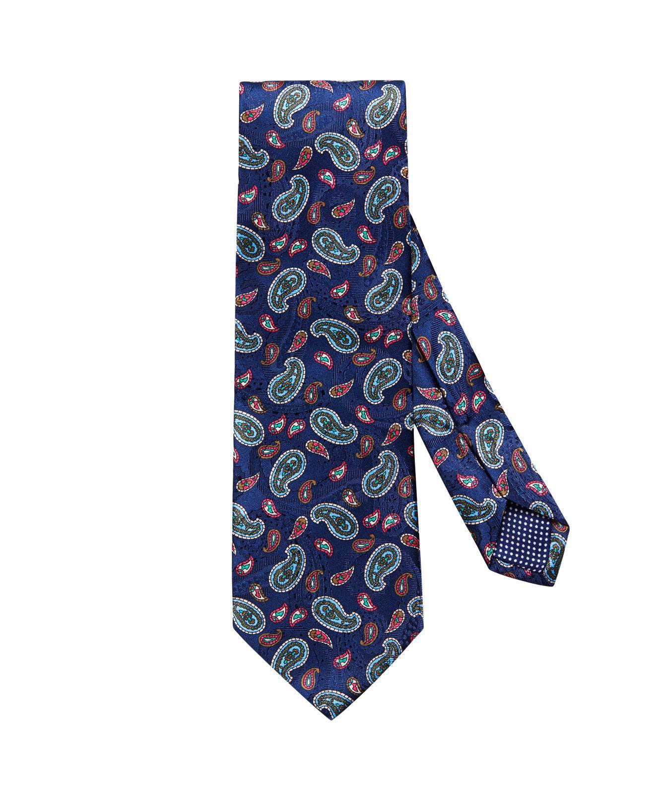 Blue Paisley Tie Eton wFOkv4