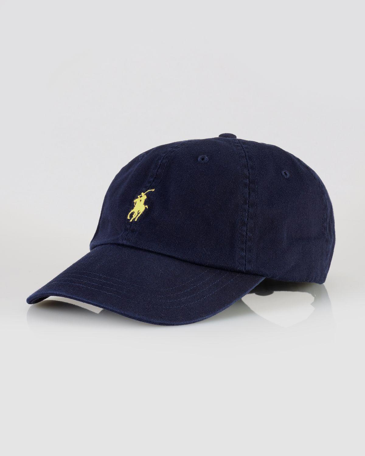 polo ralph signature pony hat in blue for lyst