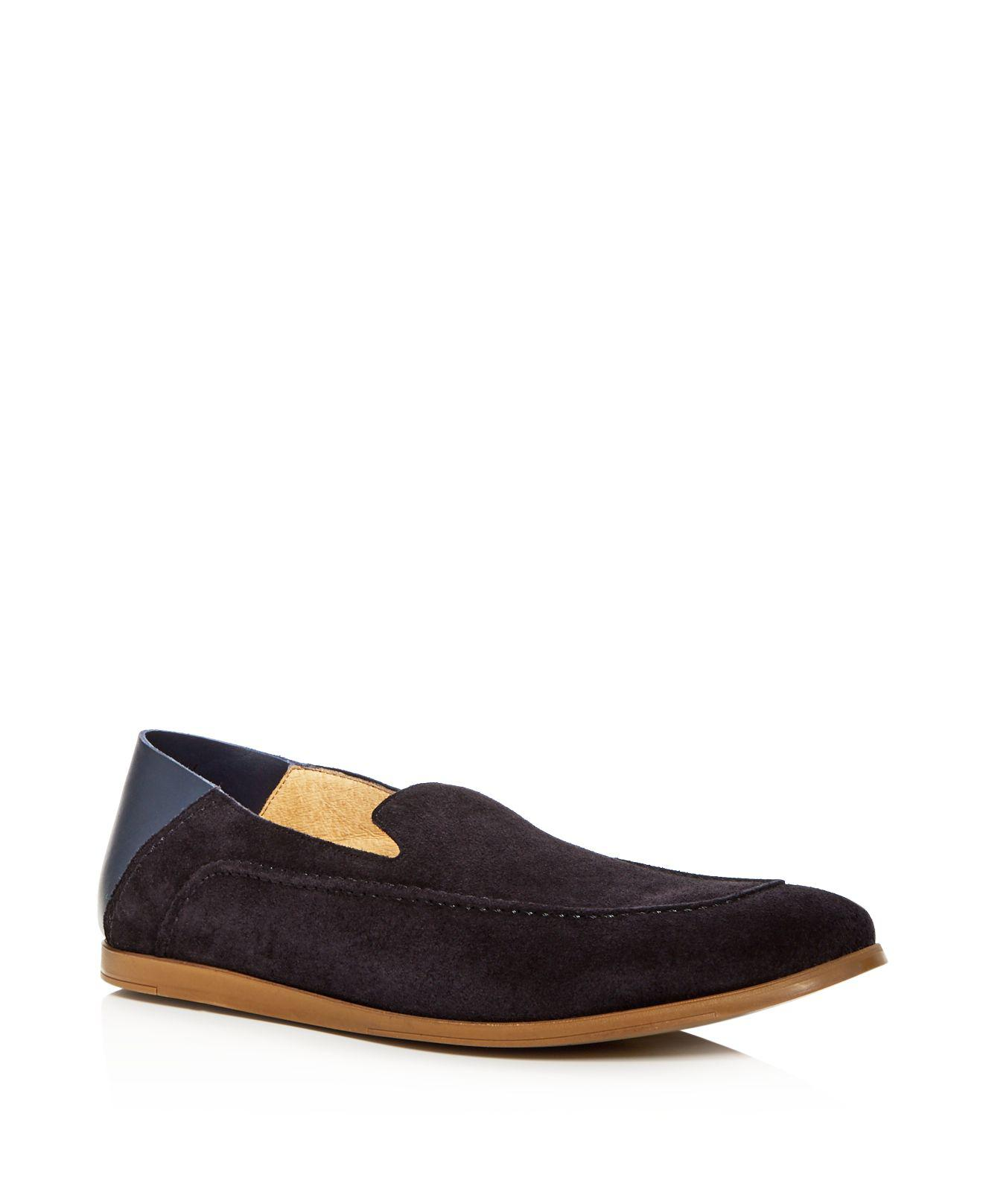 Kenneth Cole Men's Place Suede Apron Toe Convertible Smoking Slippers rjdZFQ0Px