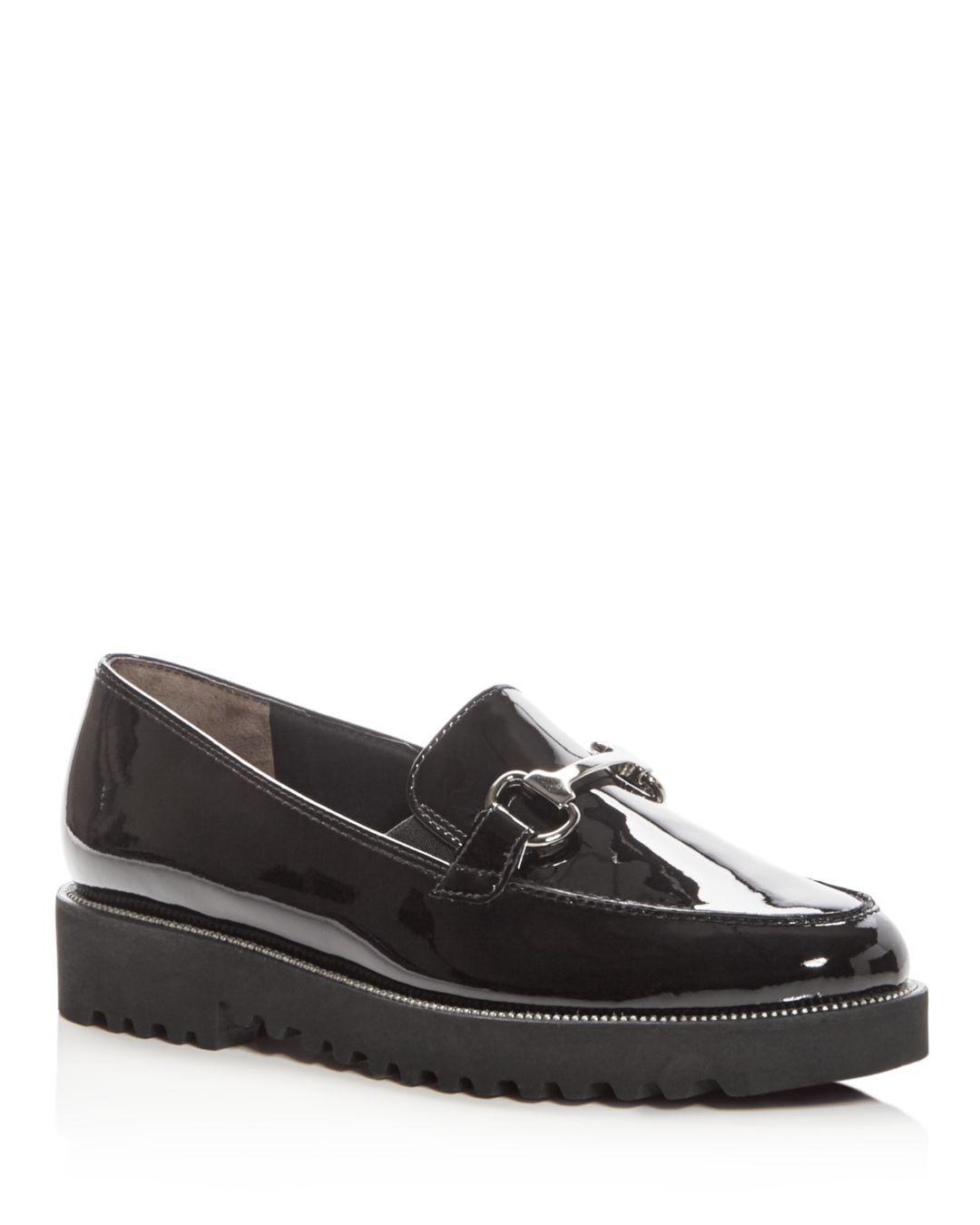 1976d596e67 Lyst - Paul Green Women s Nandi Patent Leather Platform Loafers in Black