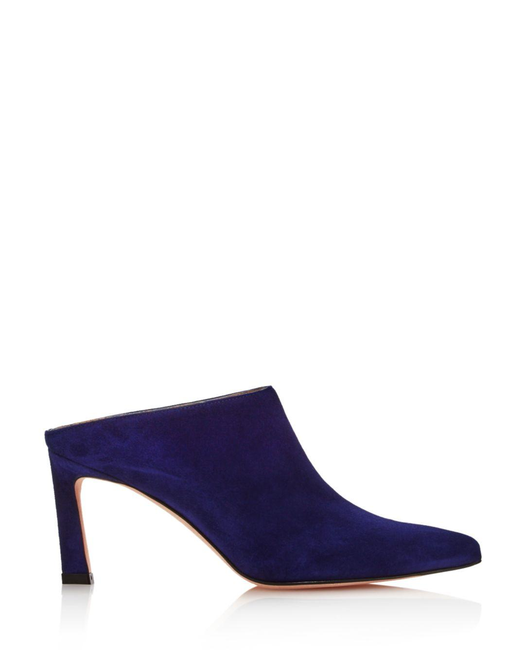 1de3842128a Stuart Weitzman Women s Mira Pointed Toe High-heel Mules in Blue - Save 1%  - Lyst