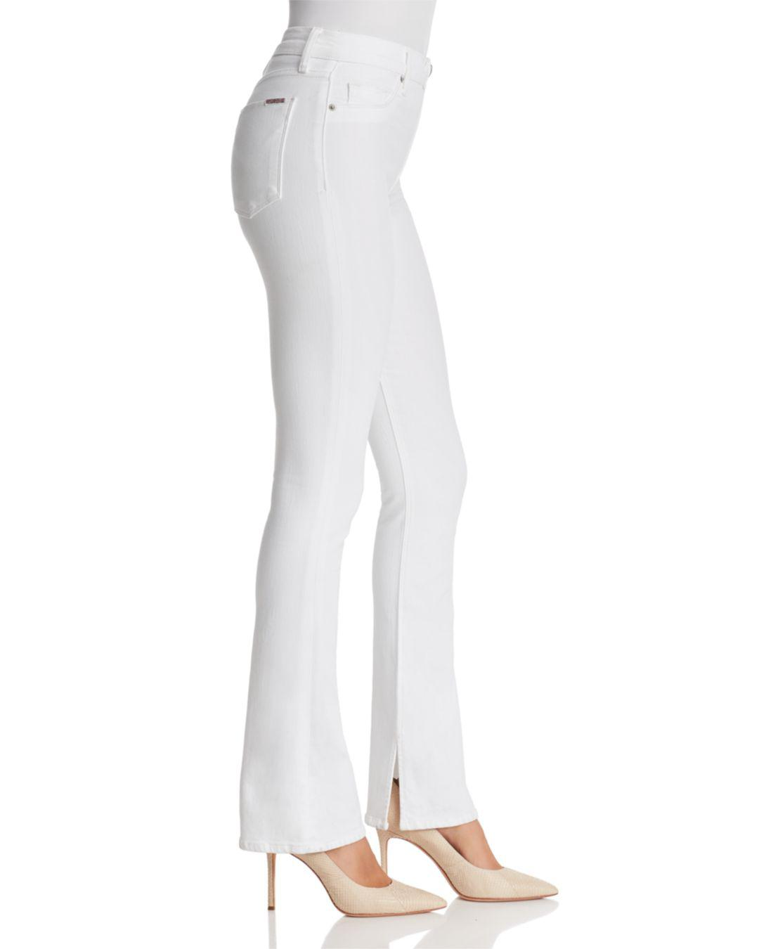 b036fad324d Hudson Jeans Heartbreaker High-rise Bootcut Jeans In Optical White ...