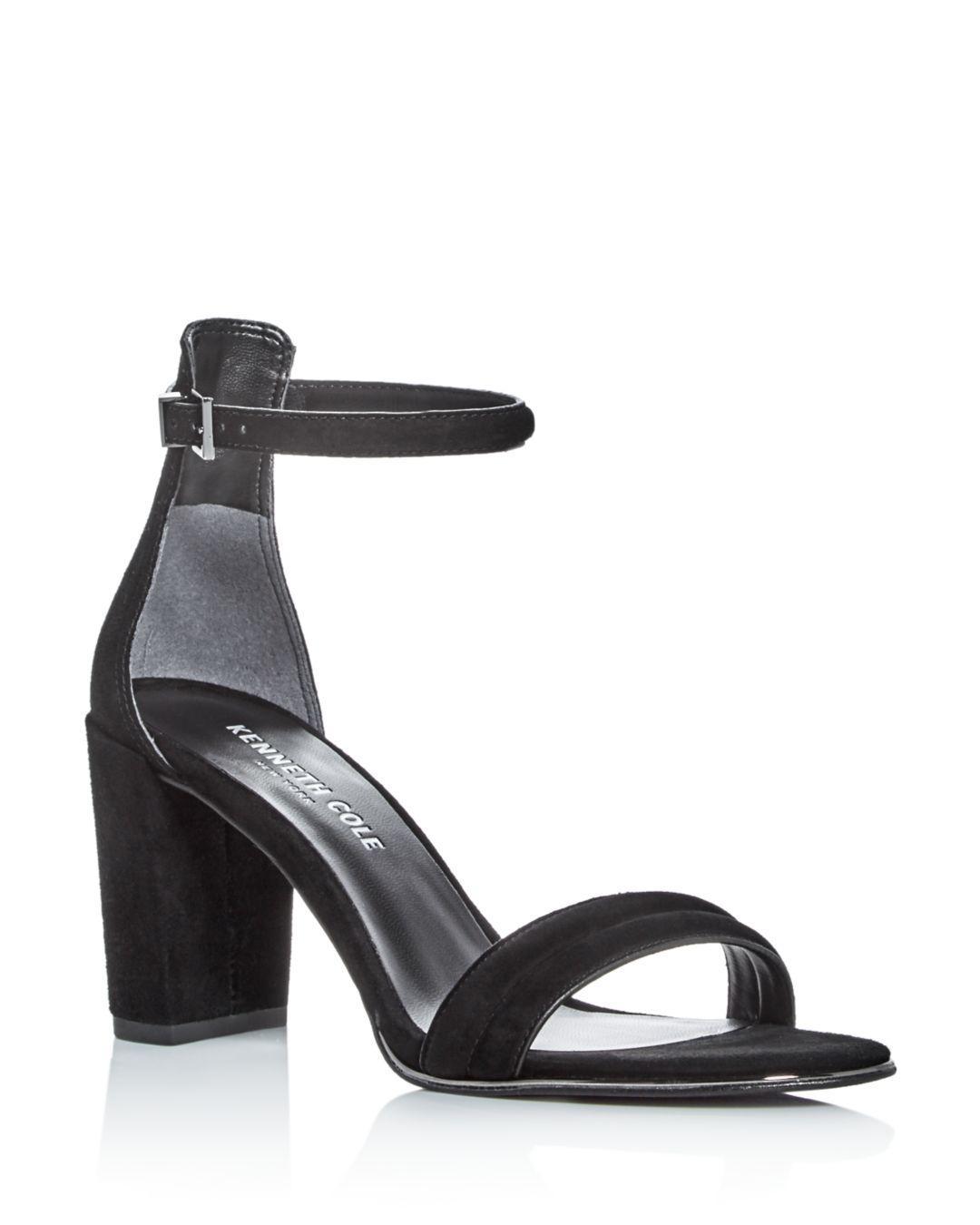 620c33abee3 Kenneth Cole - Black Lex Ankle Strap Block Heel Sandals - Lyst. View  fullscreen