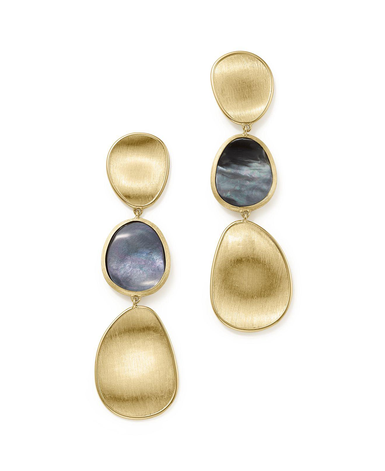 Marco Bicego Lunaria 18K Gold Drop Earrings MTh3vmrJW