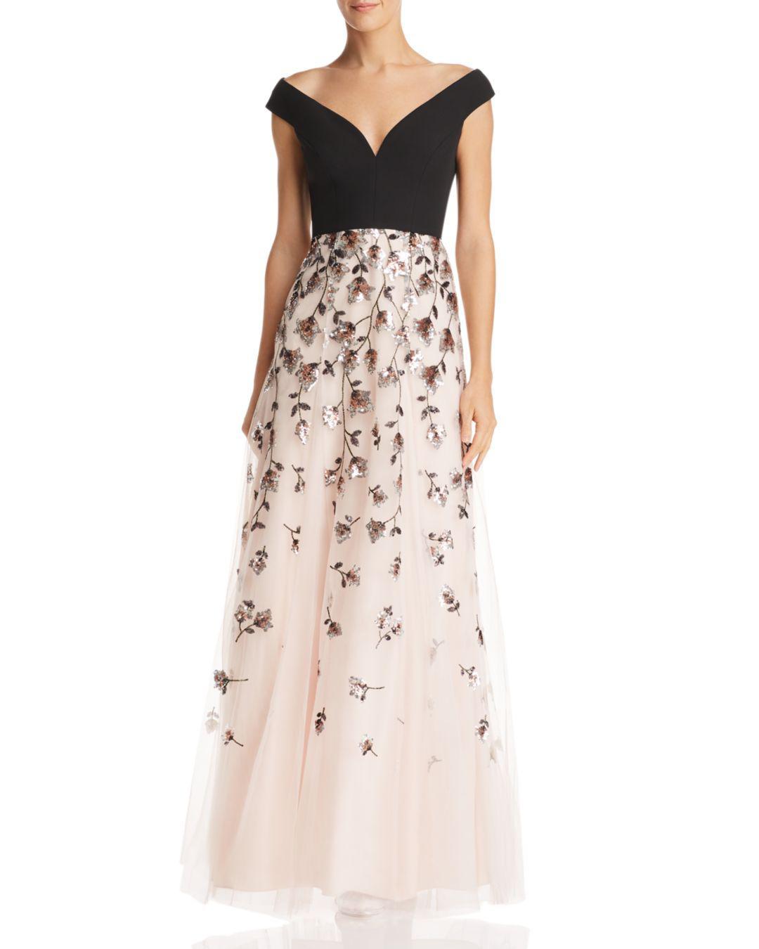 ec1ffbc620 BCBGMAXAZRIA. Women s Embellished Off-the-shoulder Gown
