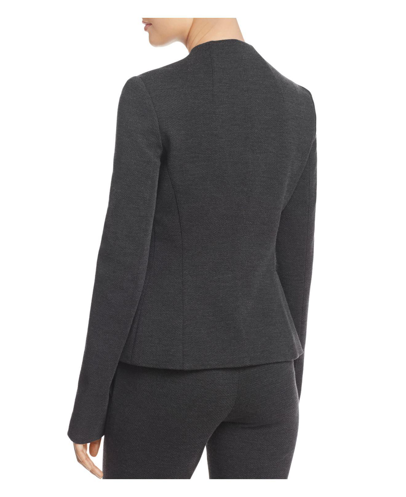 6fc3bc6db9 Theory Sculpted Knit Twill Jacket in Gray - Lyst