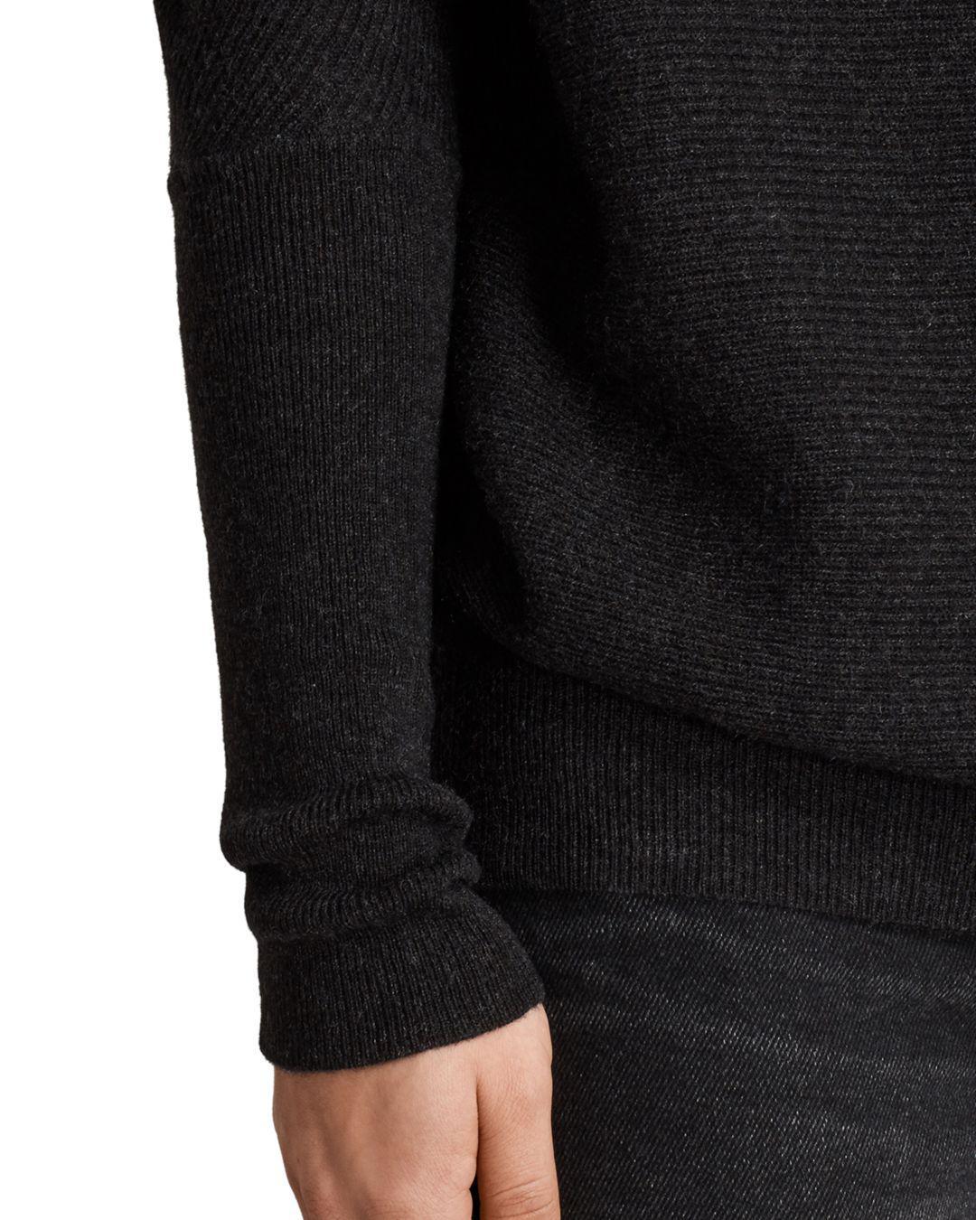 Lyst Allsaints Ridley Sweater In Black