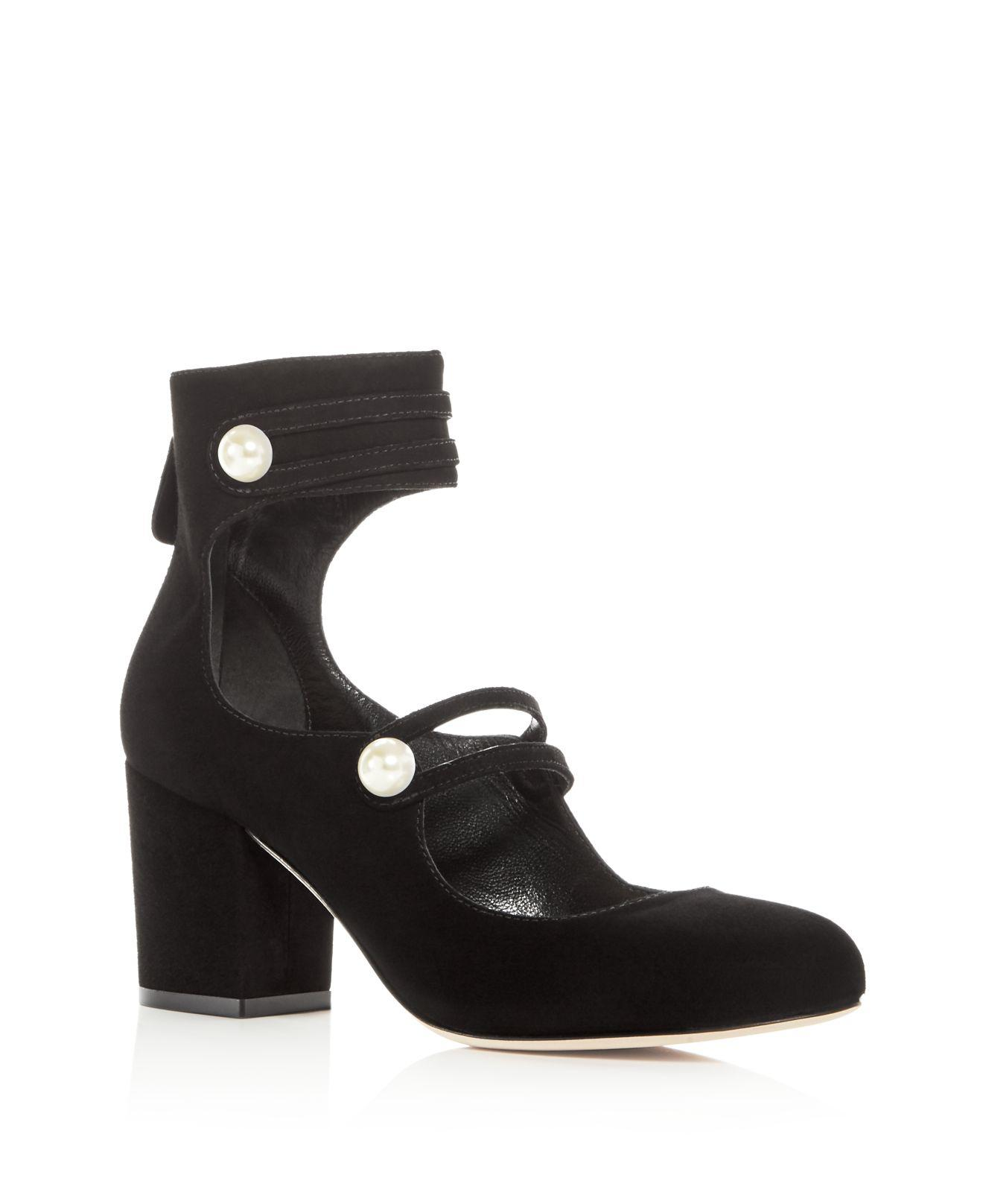 Isa Tapia Women's Marina Suede Ankle Strap Block Heel Pumps - 100% Exclusive BN2XVAvtO