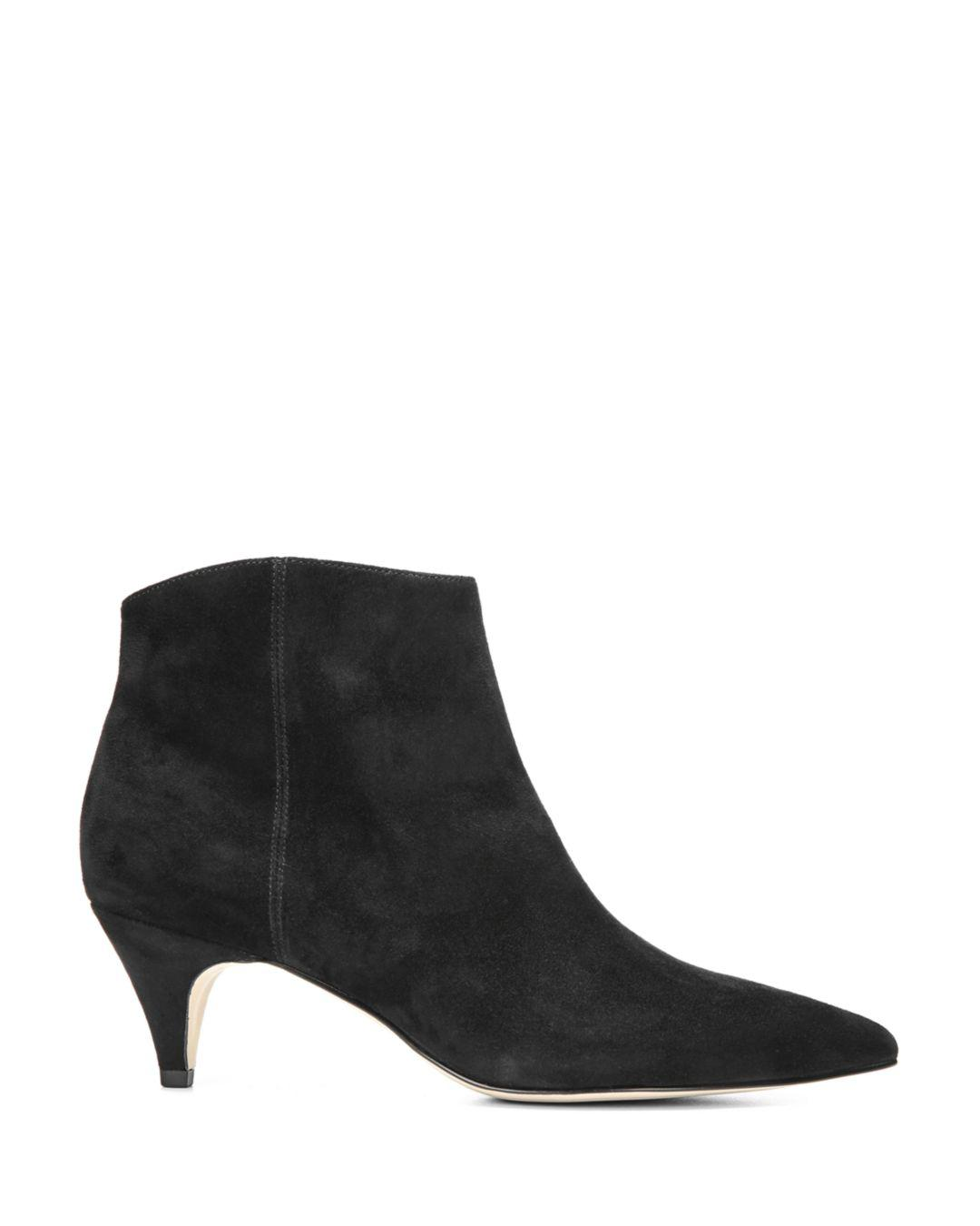 9853e7712ca45 Lyst - Sam Edelman Women s Kinzey Kitten-heel Booties in Black