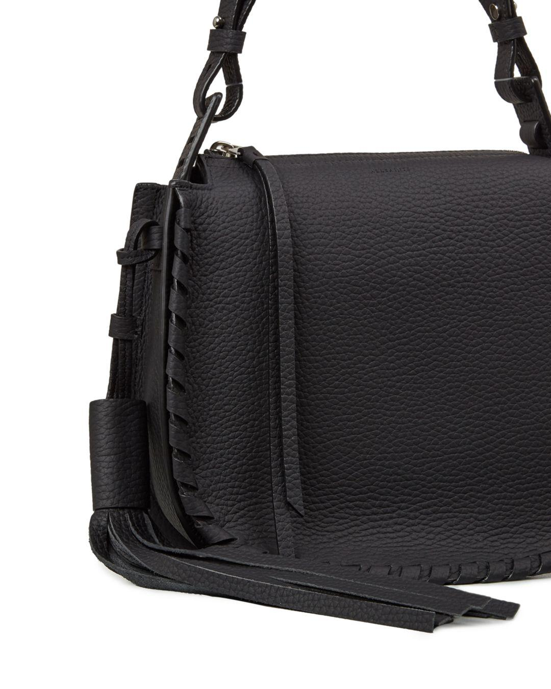 d463f72aba Lyst - AllSaints Mori Top Handle Crossbody in Black