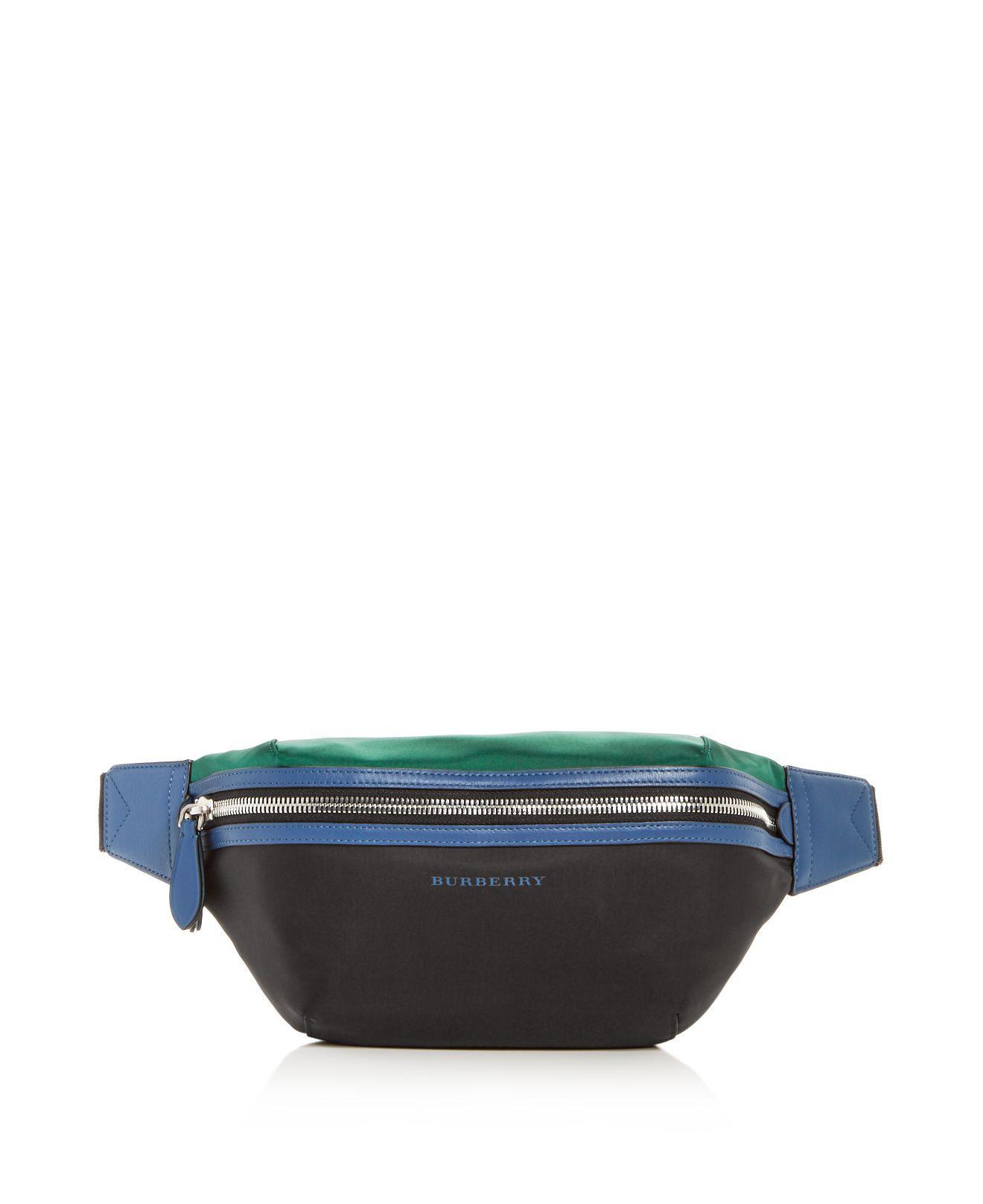 c5e8b6f529ea Lyst - Burberry Sonny Color-block Belt Bag in Black for Men