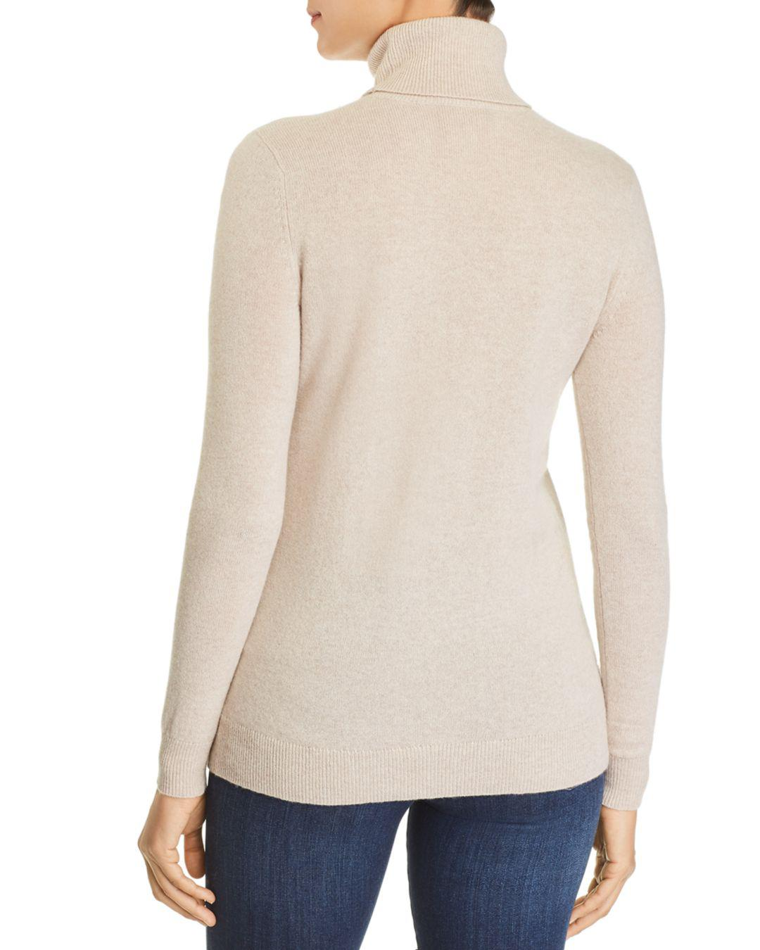 Lyst - C By Bloomingdale s Cashmere Turtleneck Sweater in Natural f72668228