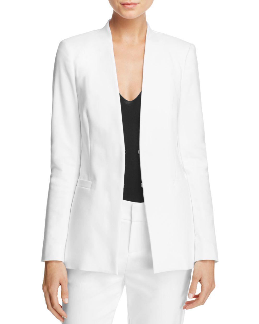 abbb50f2f007 Lyst - Alice + Olivia Alice + Olivia Jerri Tailored Blazer in White
