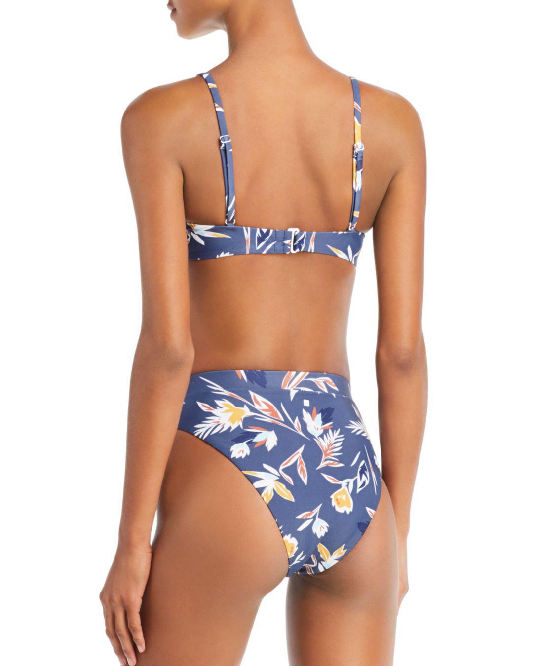 98df83b1d4f78 Lyst - Dolce Vita Matisse Floral High Waist Bikini Bottom in Blue