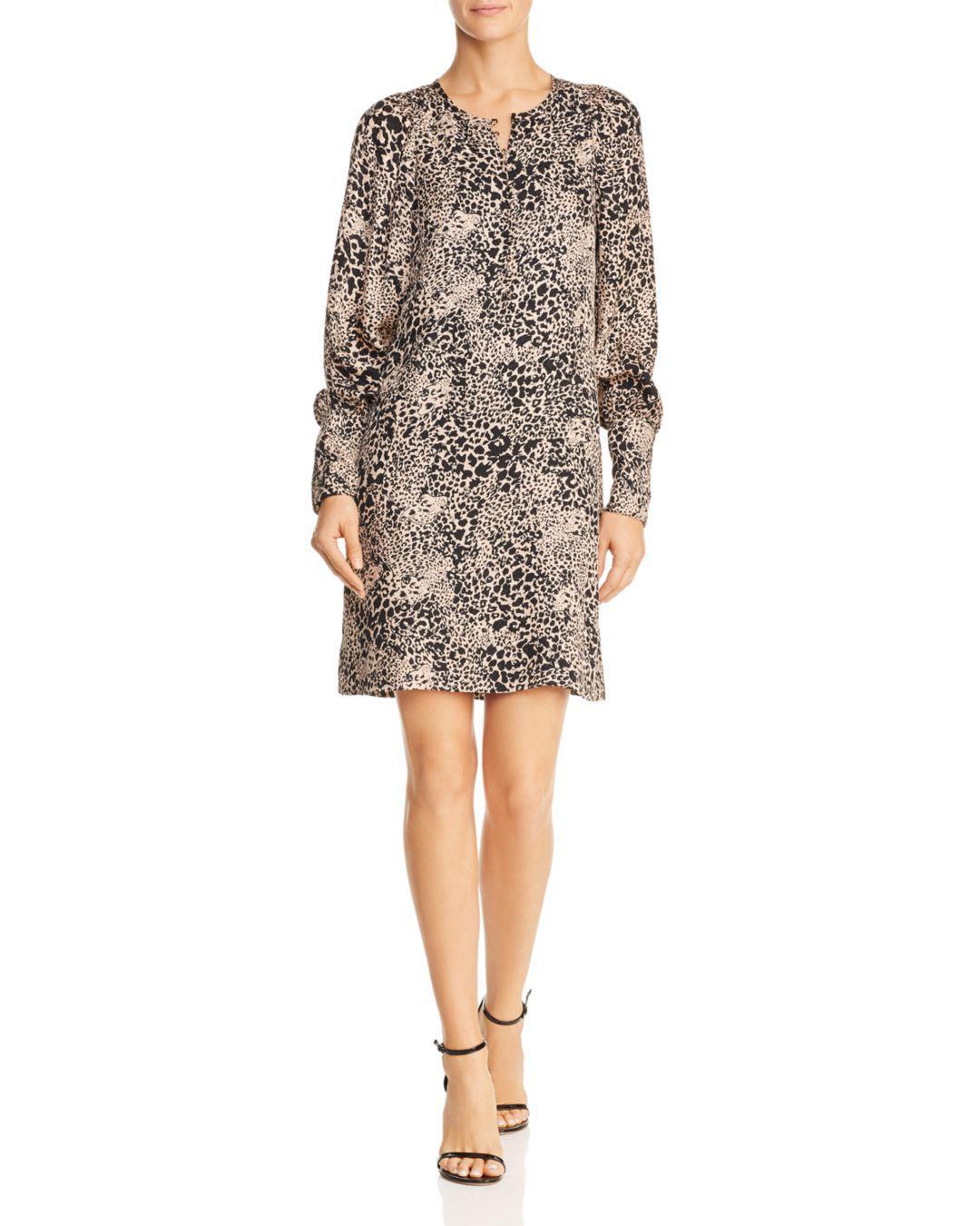 8409508d6d2e Lyst - Rebecca Taylor Hidden Leopard Jacquard Dress Champagne, Size ...