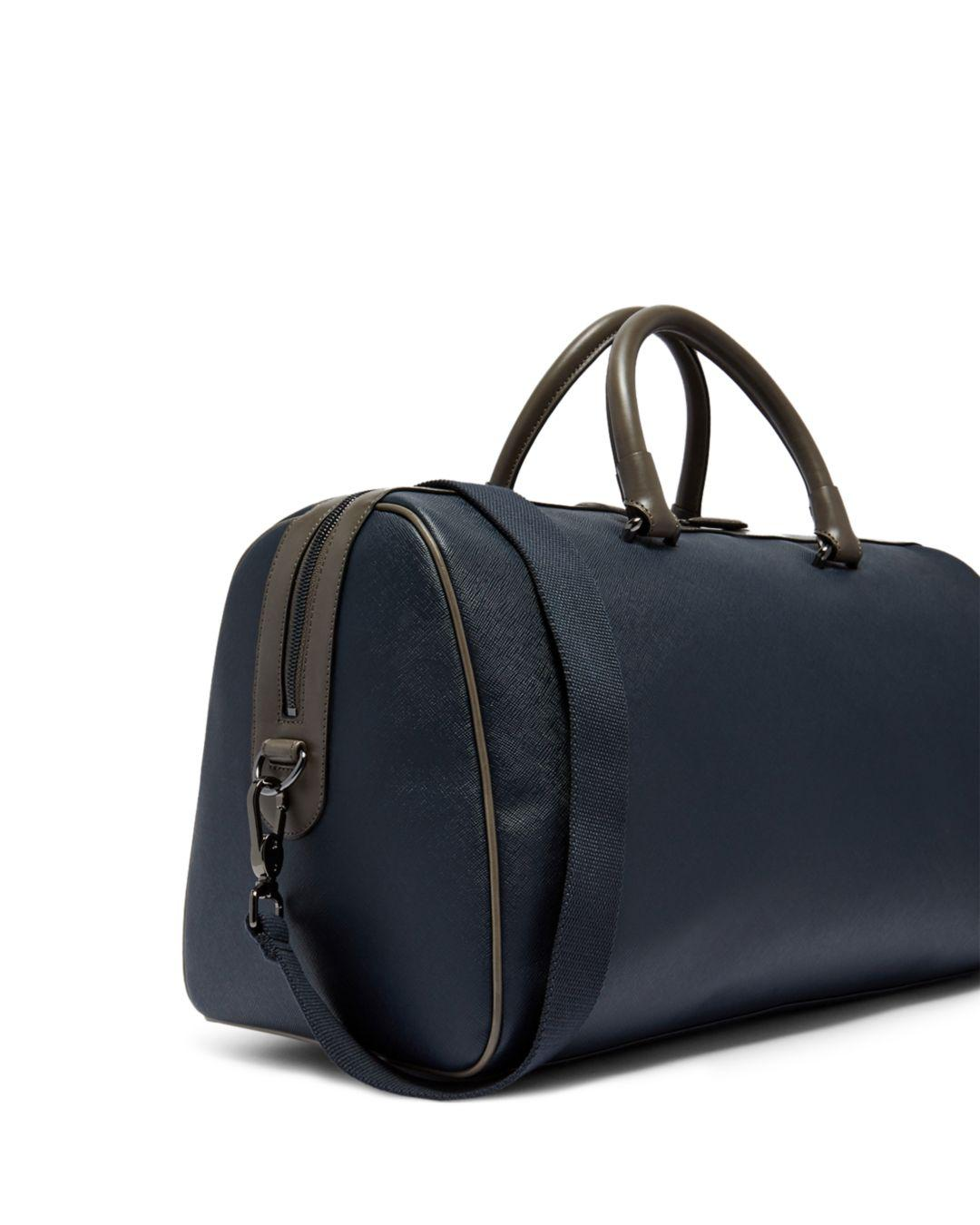 Lyst - Ted Baker Haybail Crossgrain Holdall in Blue for Men e765813ae7319