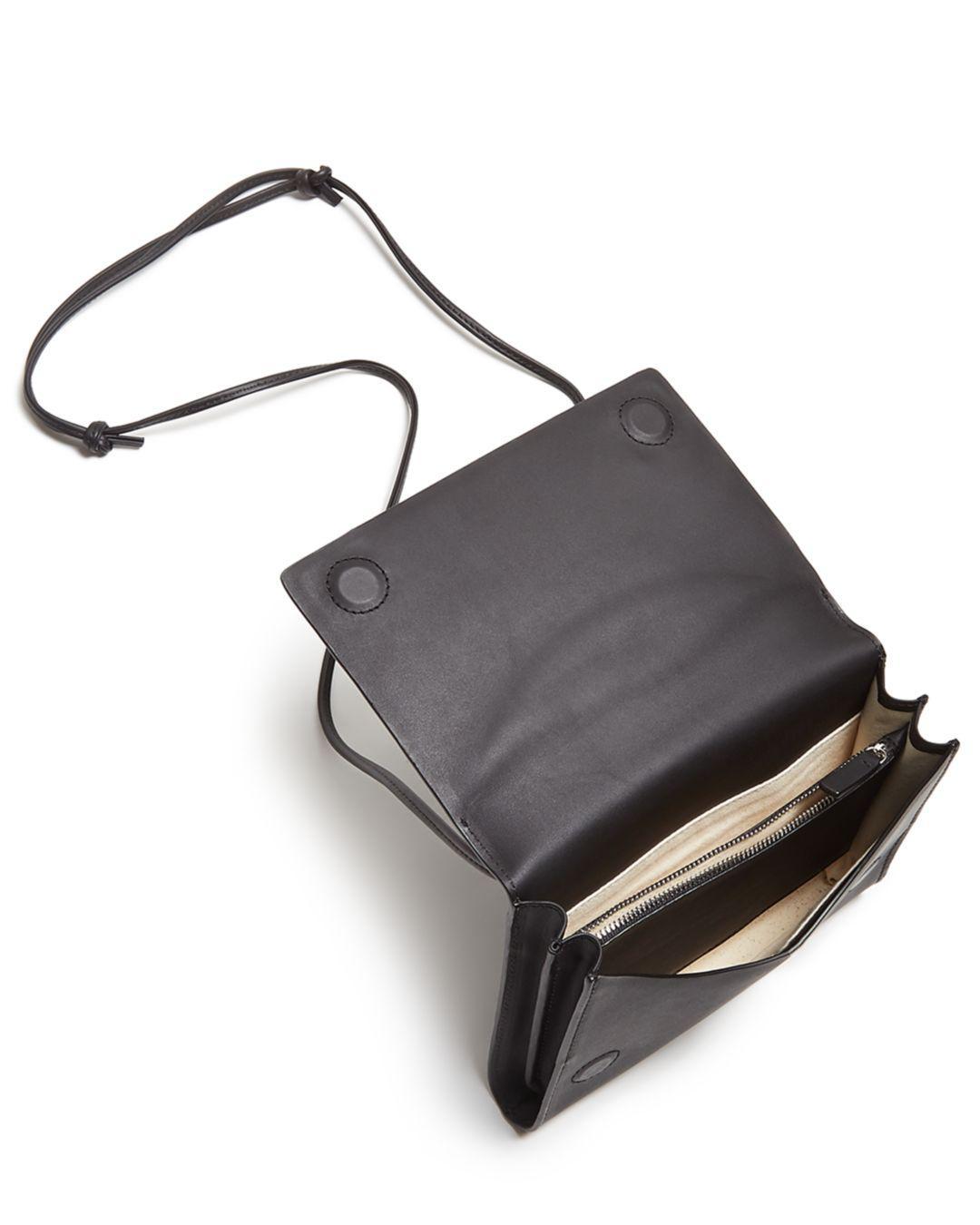 17a4e366f13e Baggu Compact Leather Crossbody in Black - Lyst