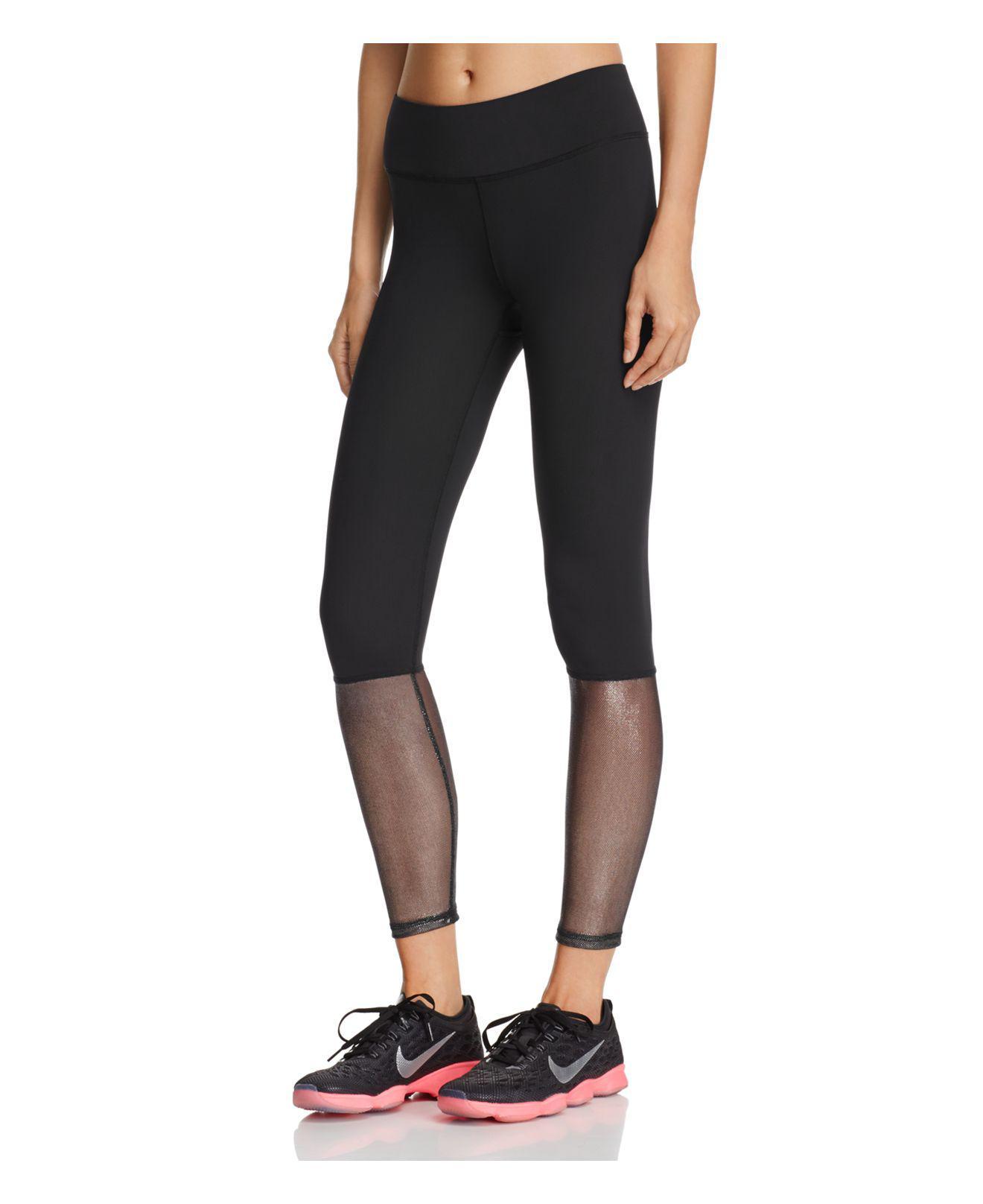 Terez Glitter Mesh Leggings in Black - Lyst a3656e2f0058