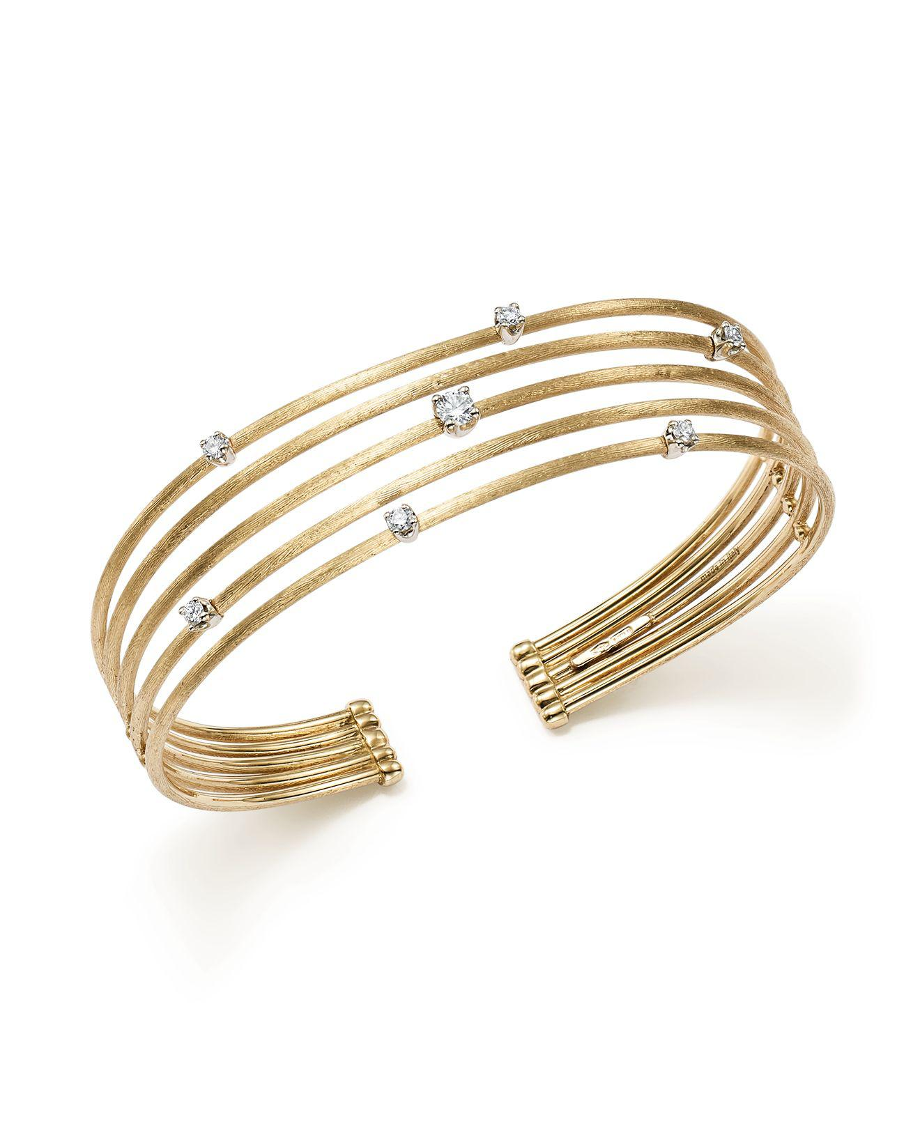 lyst yellow bicego gallery bracelet marco normal masai multi jewelry diamond white product gold row