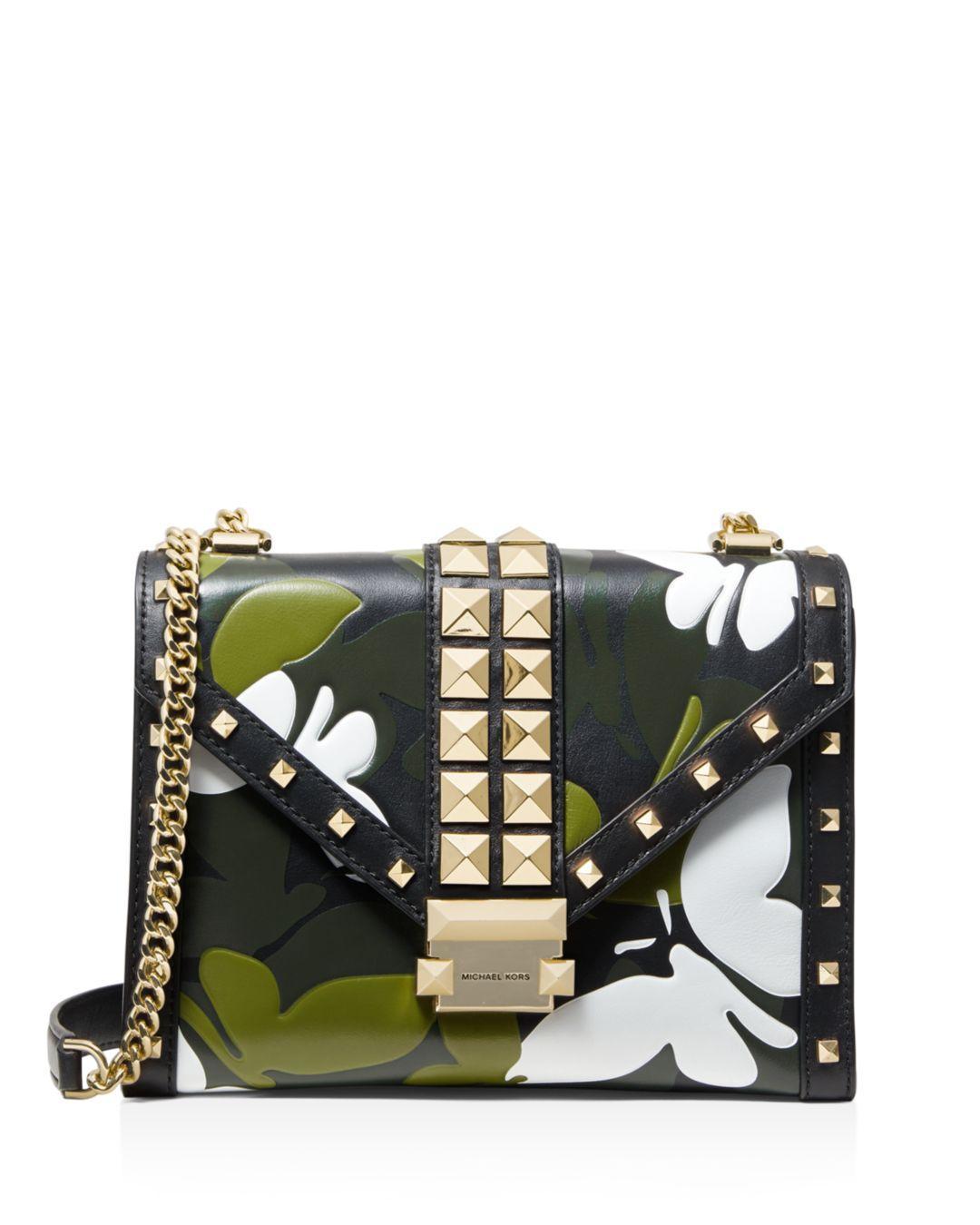 4abf1a6e508e MICHAEL Michael Kors. Women's Whitney Large Studded Leather Shoulder Bag